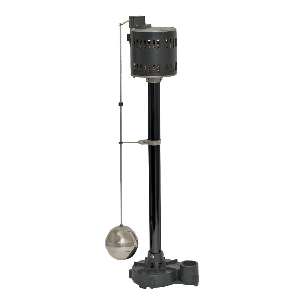 Picture of SUPERIOR PUMP 92301 Sump Pump, 1-Phase, 2.76 A, 120 V, 0.33 hp, 1-1/2 in Outlet, 50 gpm, Iron/Steel