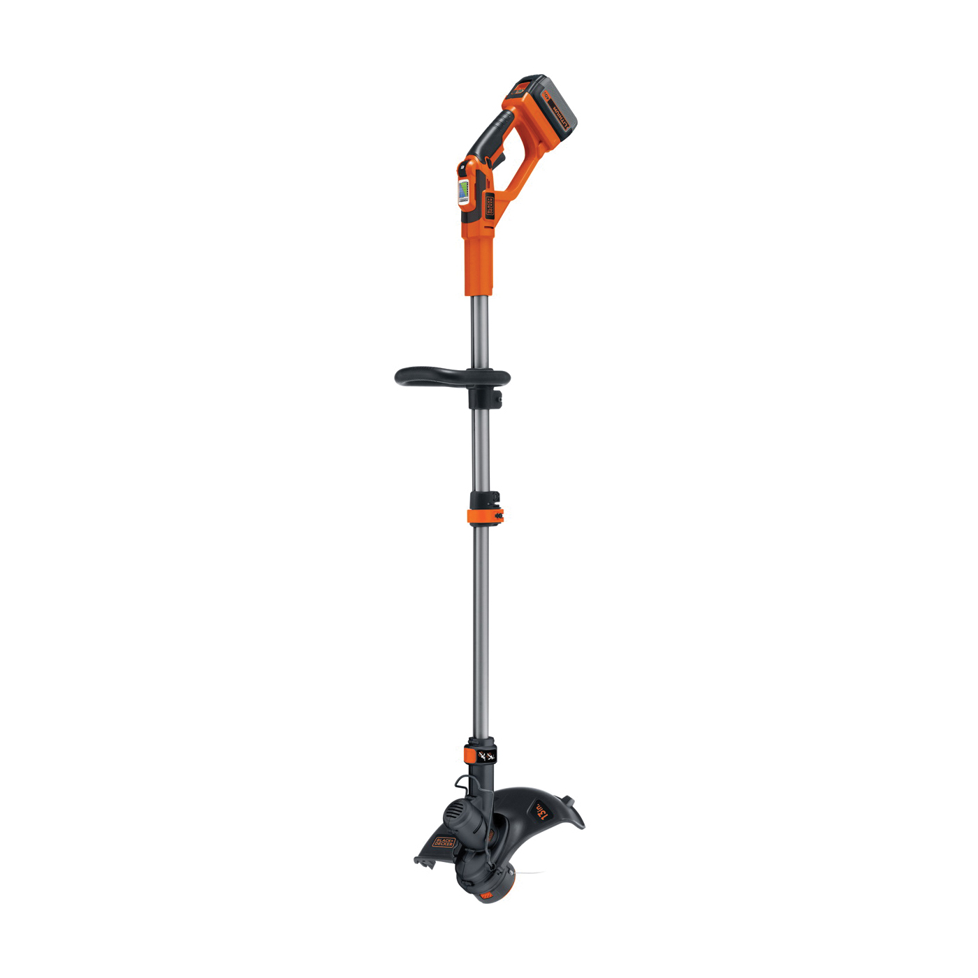 Picture of Black+Decker LST136 String Trimmer, 1.5 Ah, 40 V Battery, Lithium-Ion Battery, 1 -Speed, 52 in L Shaft