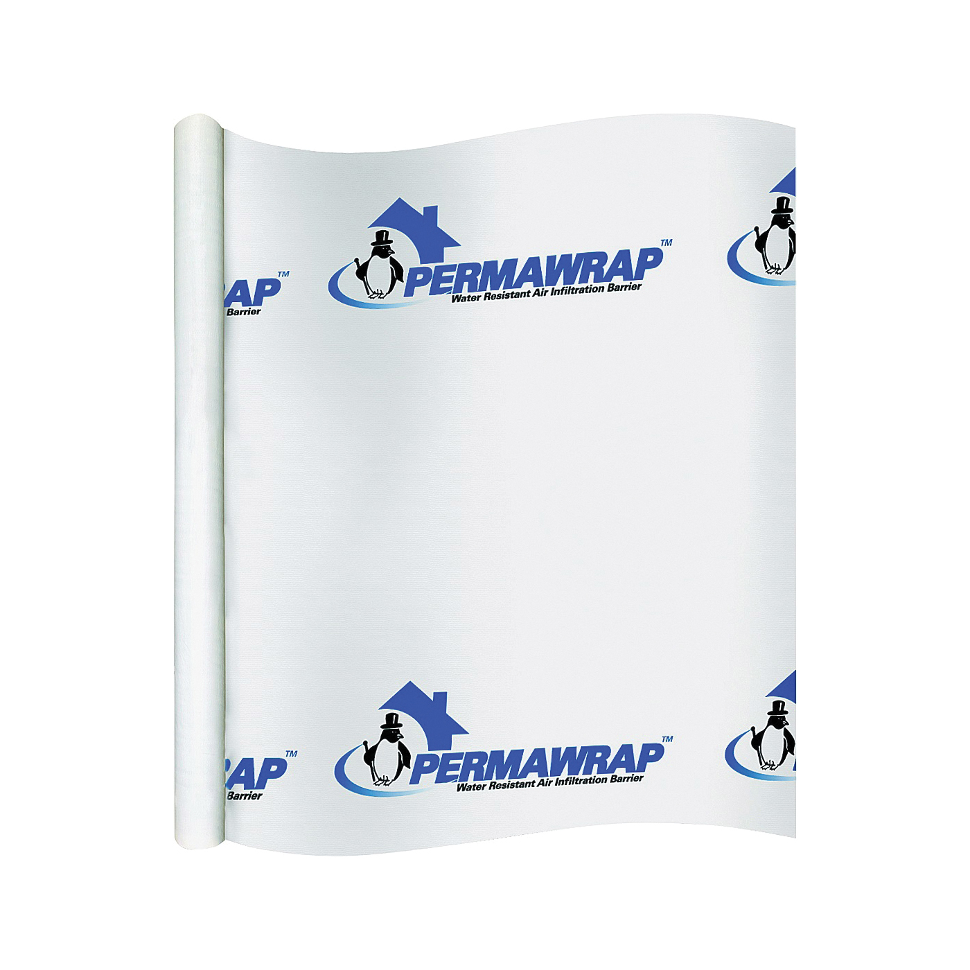 Picture of PermaPro 09150 House Wrap, 150 ft L, 9 ft W, Polypropylene, Translucent