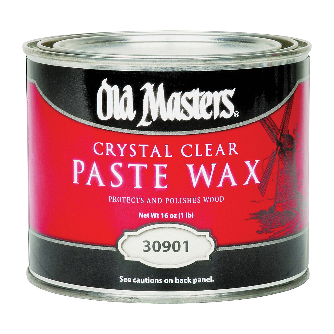 Picture of Old Masters 30901 Paste Wax, Crystal Clear, White, Solid, 1 lb, Can