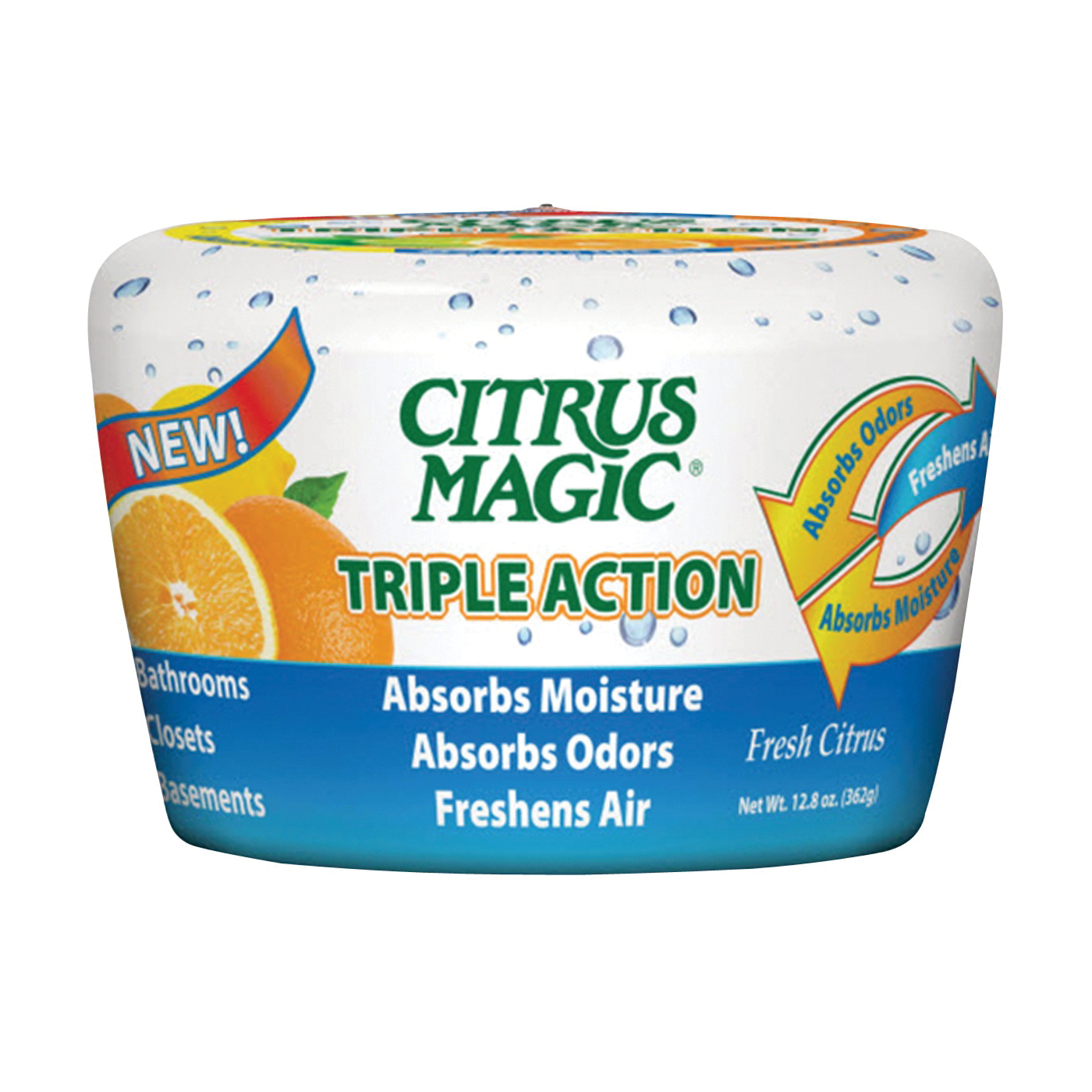 Picture of Citrus Magic 618372454-6PK Moisture and Odor Absorber, 12.8 oz Package, Fresh Citrus
