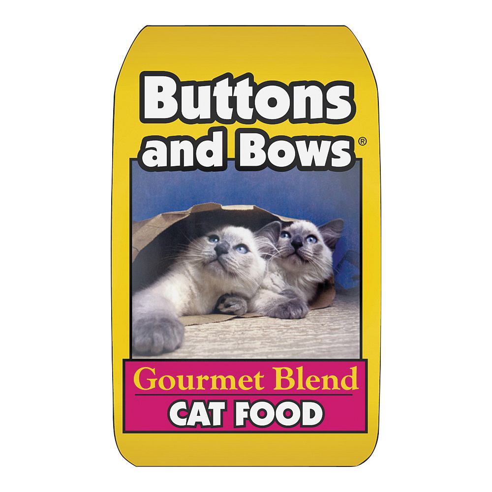 Picture of Buttons and Bows 10226 Cat Food, Chicken Flavor, 18 lb Package, Bag