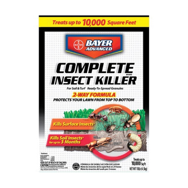 Picture of BayerAdvanced 700288S Insect Killer, Granule, Flower Bed, Ground Cover, Home, Lawn, Trees and Shrubs, 10 lb Package