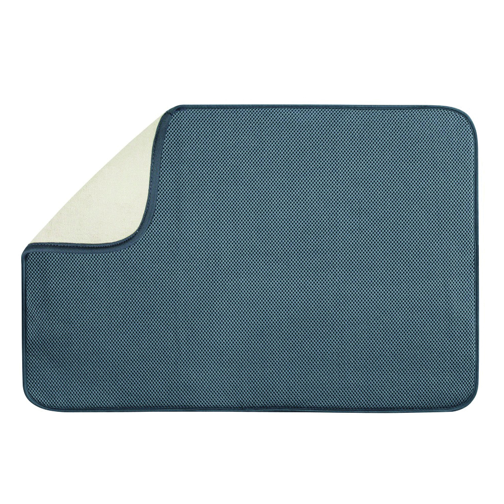 Picture of INTERDESIGN 40232 Drying Mat, 24 in L, 18 in W, Microfiber Terry/Polyester