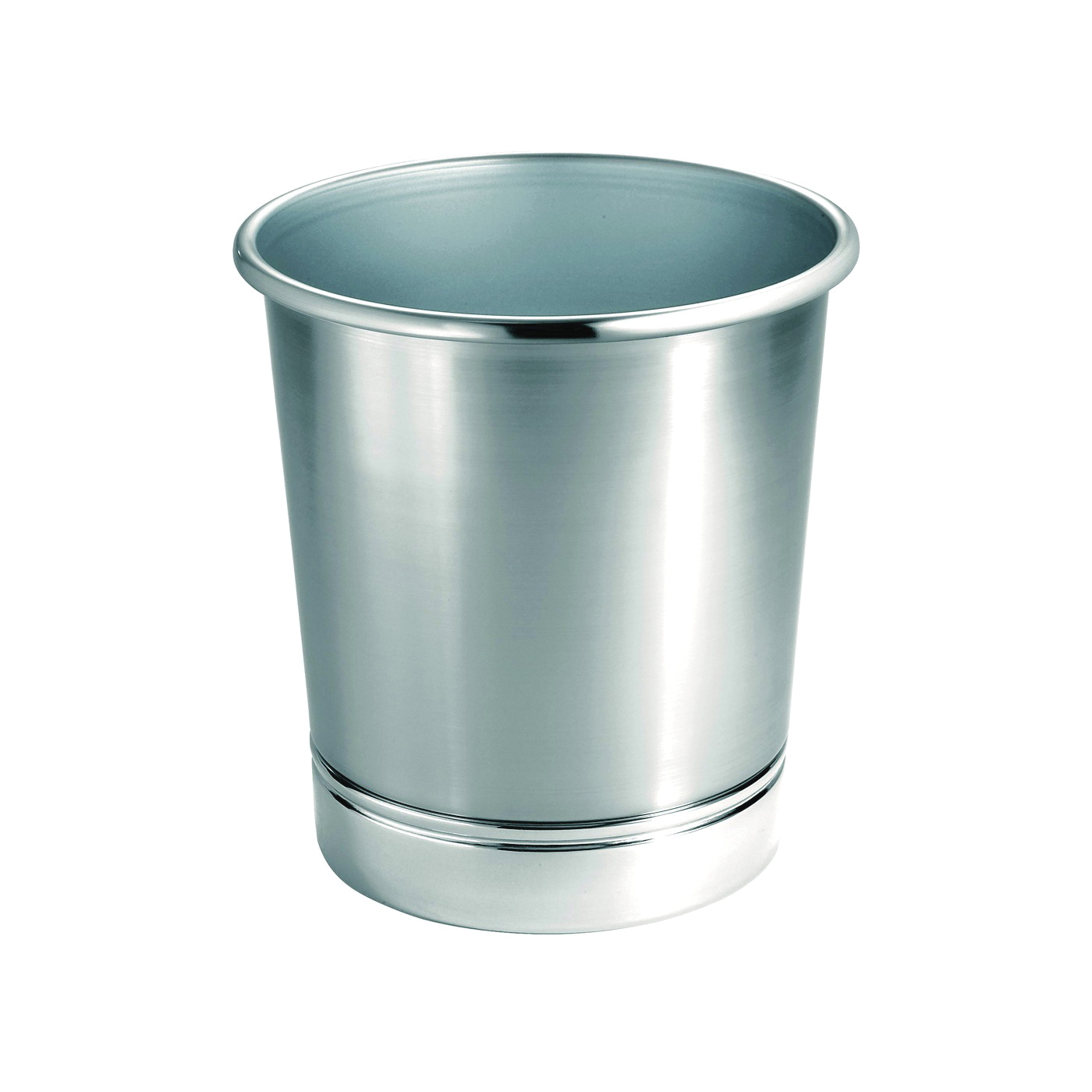 Picture of iDESIGN York Metal 76550 Waste Can, Steel, 9-1/2 in Dia, 10-1/4 in H