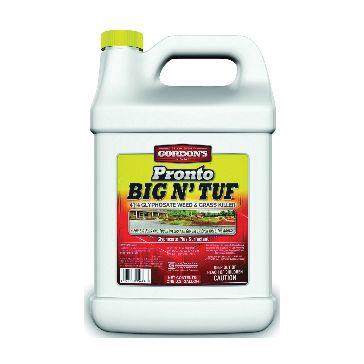 Picture of Gordon's Pronto Big N' Tuf 9571077 Weed and Grass Killer, Liquid, Yellow, 1 gal Package