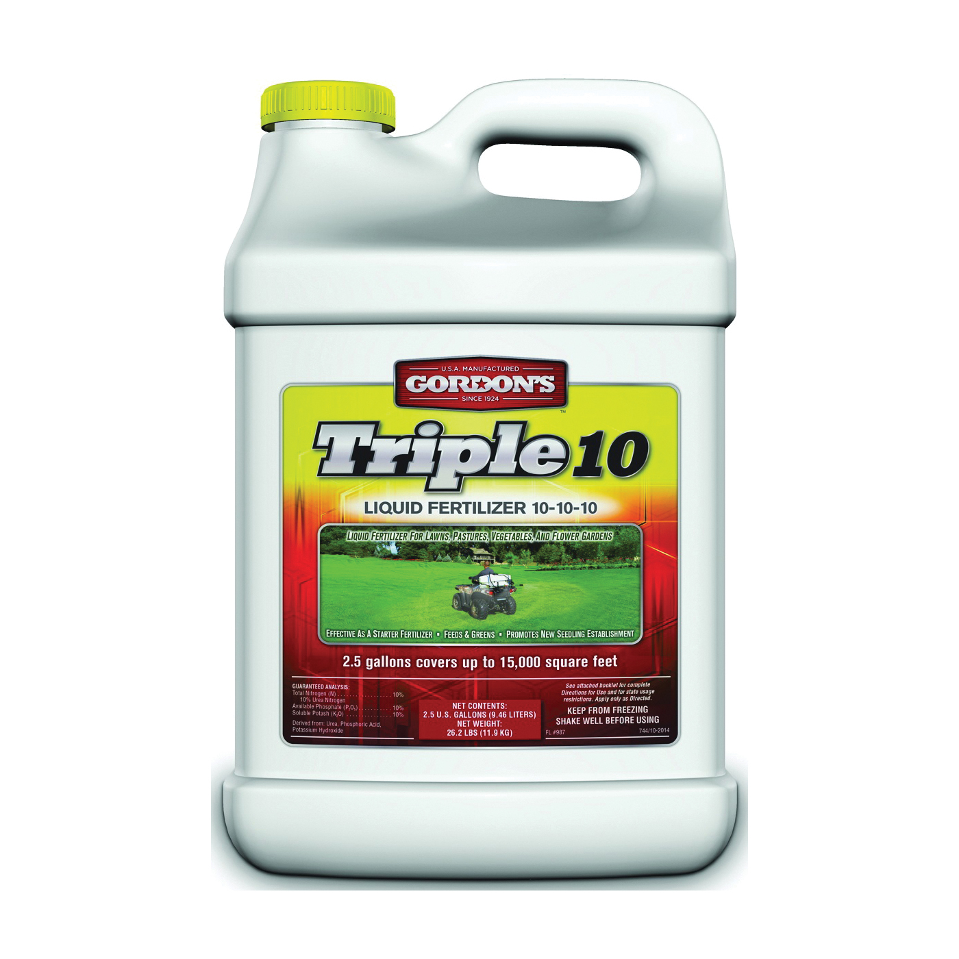 Picture of Gordon's 7441122 Lawn and Garden Fertilizer, Liquid, Ammonia, 2.5 gal Package