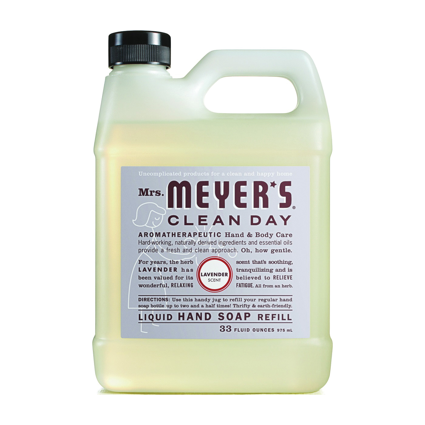 Picture of Mrs. Meyer's 11163 Hand Soap, Liquid, Lavender, 33 oz Package, Jug
