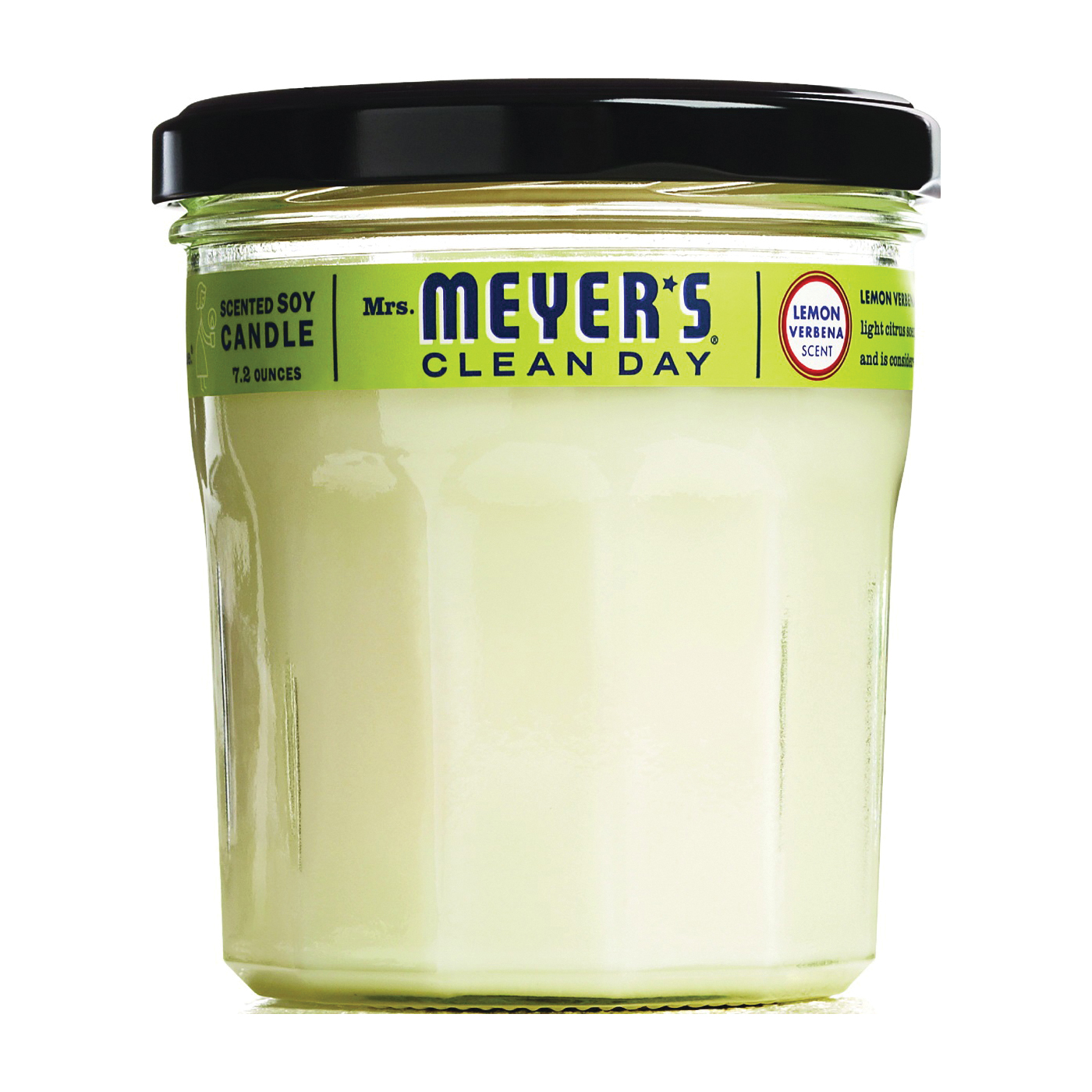 Picture of Mrs. Meyer's 42116 Soy Candle, Lemon Verbena Fragrance, White Candle, 35 hr Burning