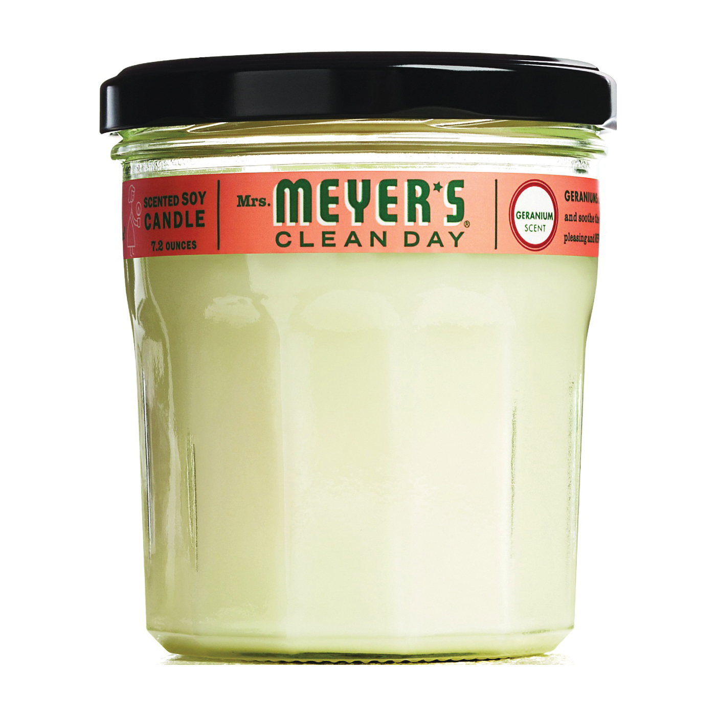Picture of Mrs. Meyer's 43116 Soy Candle, Geranium Fragrance, White Candle, 35 hr Burning
