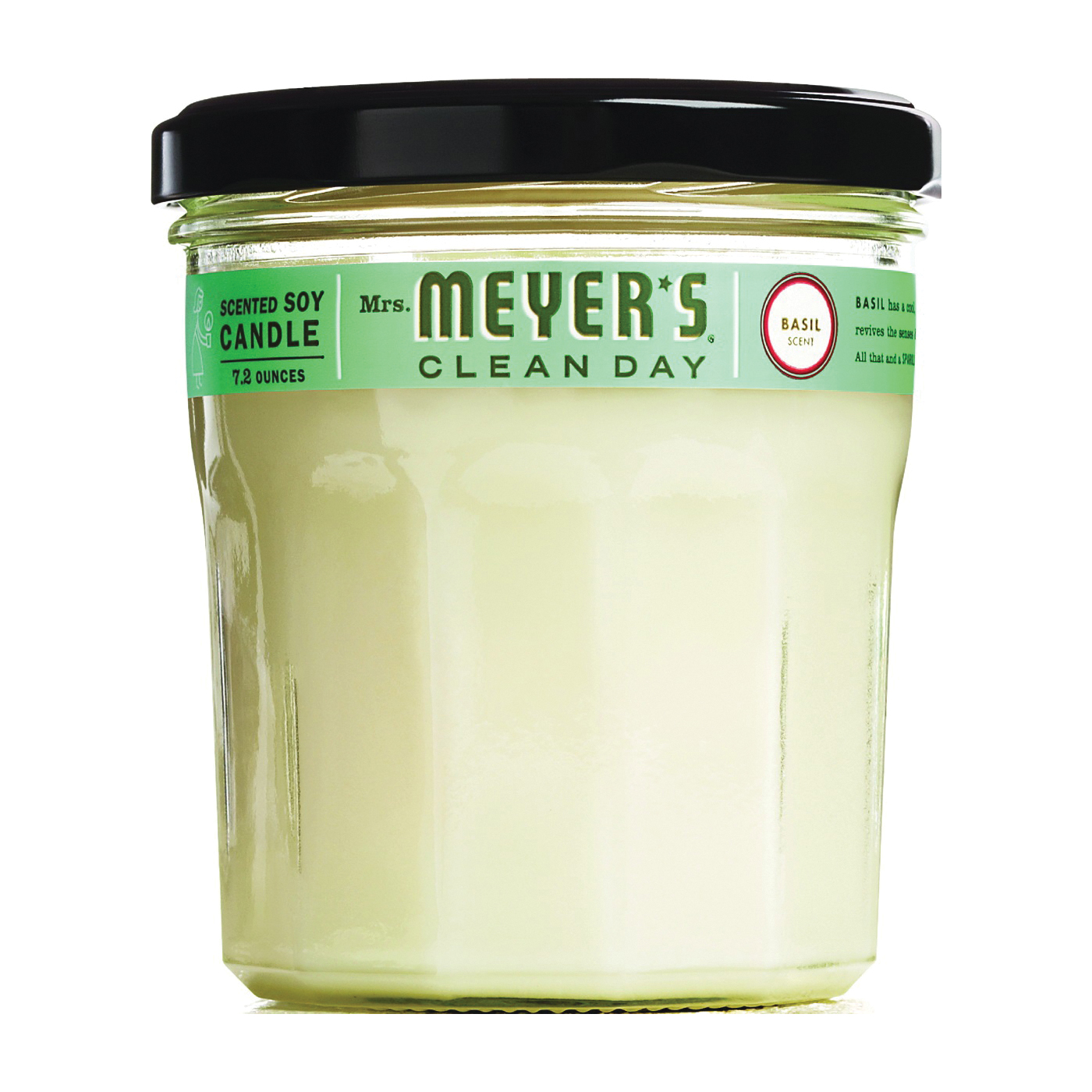Picture of Mrs. Meyer's 44116 Soy Candle, Basil Scent Fragrance, Creamy Candle, 35 hr Burning