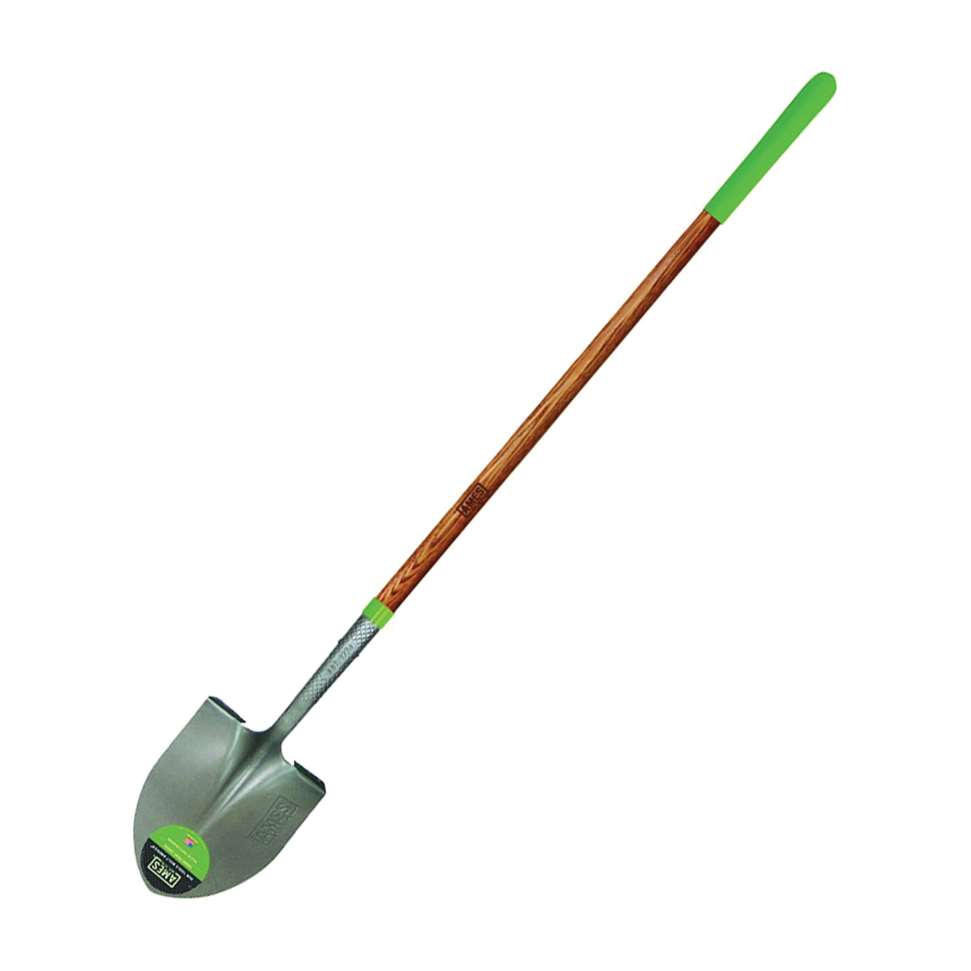 Picture of AMES 2535600 Shovel, 8-3/4 in W Blade, Steel Blade, Hardwood Handle, Long Handle, 48 in L Handle