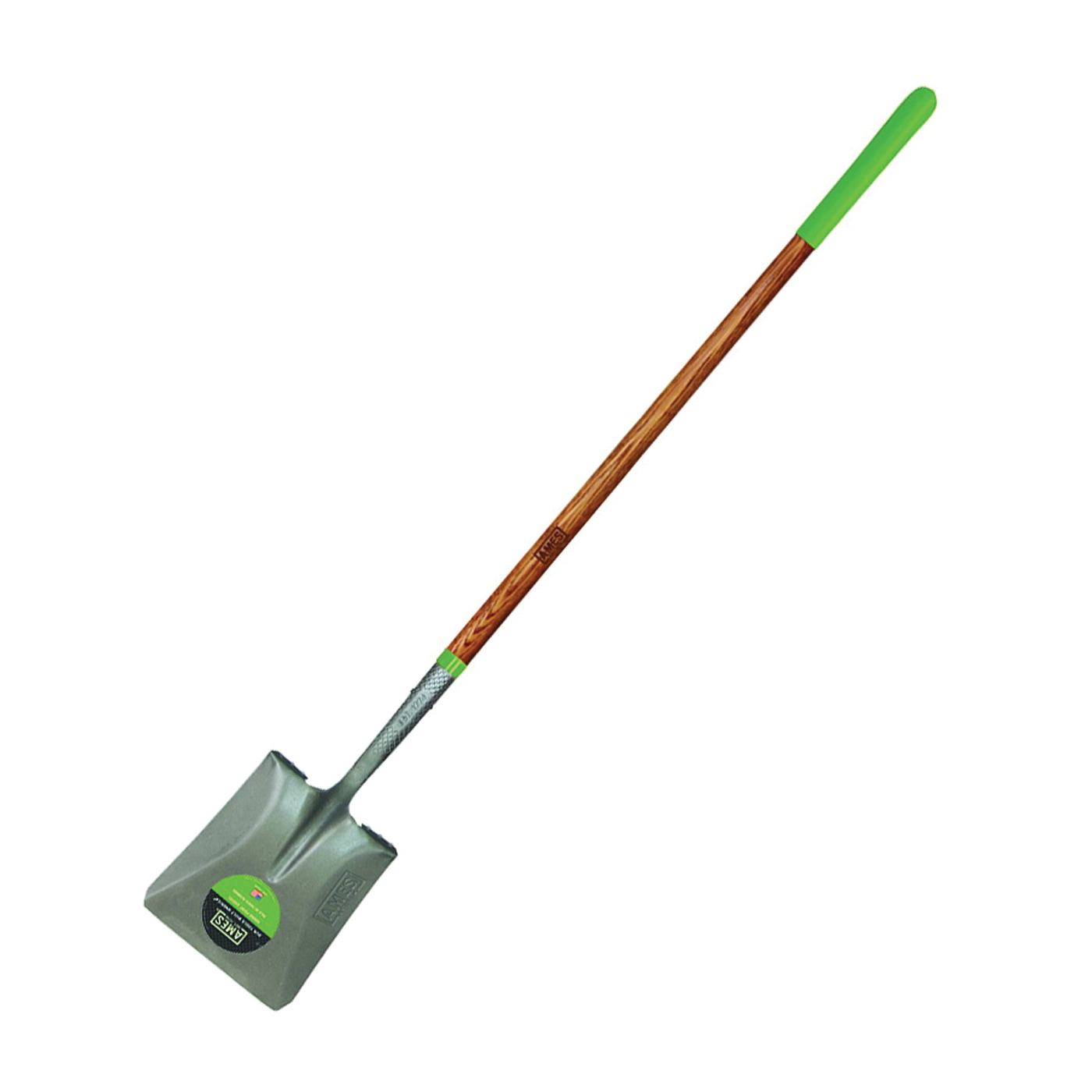 Picture of AMES 2535700 Square Point Shovel, 9-3/4 in W Blade, Steel Blade, Ashwood Handle, Cushion Grip Handle