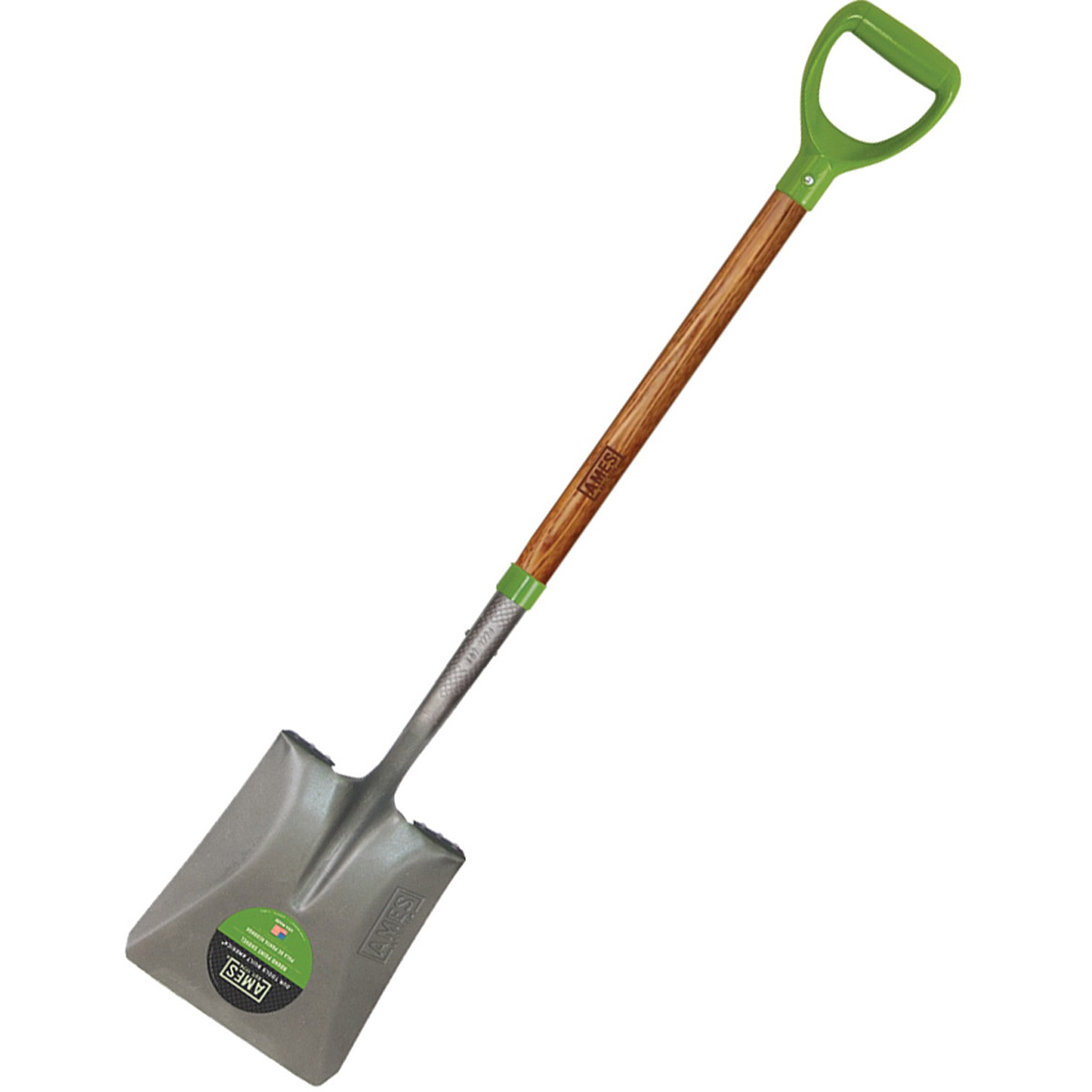 Picture of AMES 2535900 Transfer Shovel, 9-3/4 in W Blade, Steel Blade, North American Hardwood Handle, D-Shaped Handle