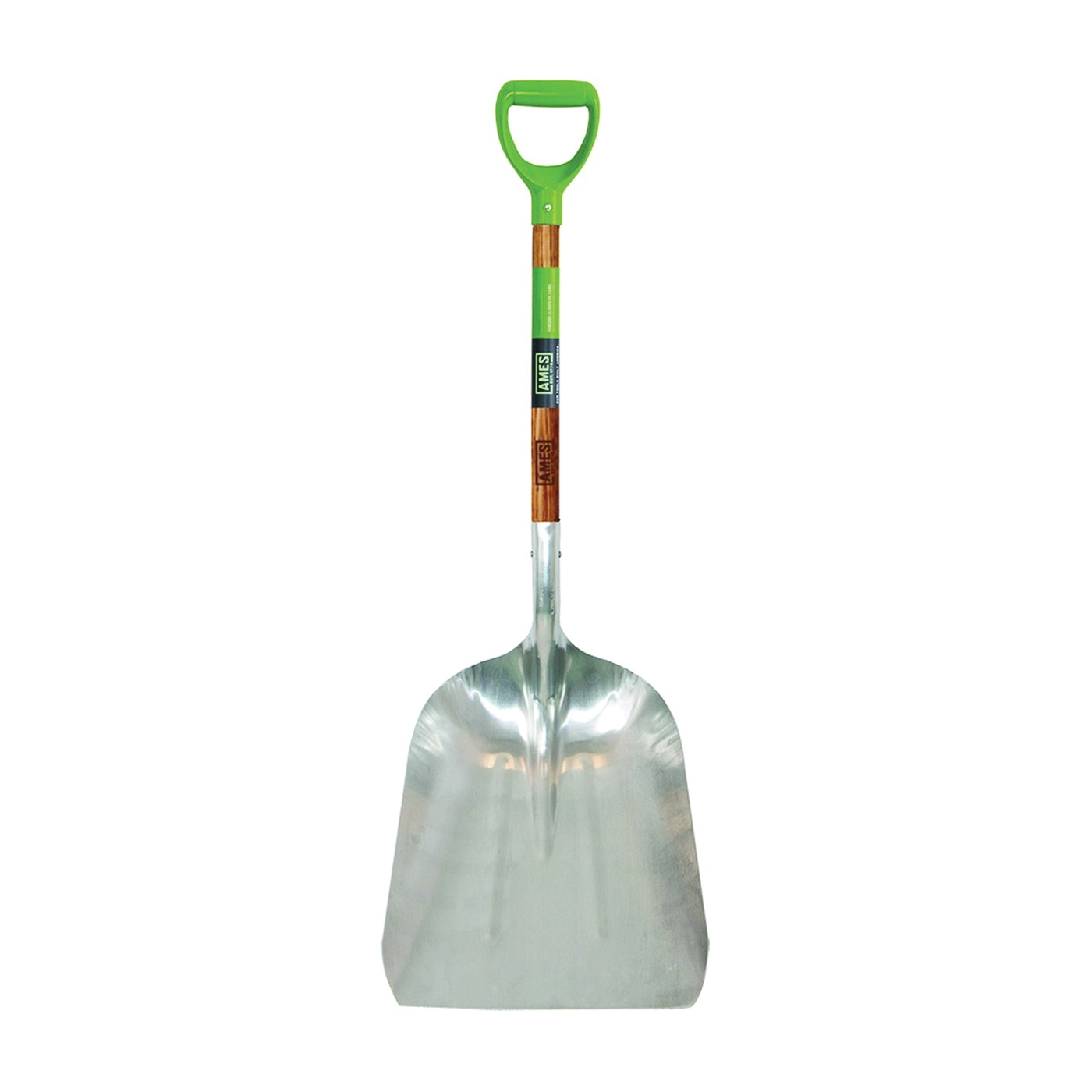 Picture of AMES 2672400 Scoop Shovel, 15-1/2 in W Blade, 11-1/2 in L Blade, Aluminum Blade, Northern Hardwood Handle