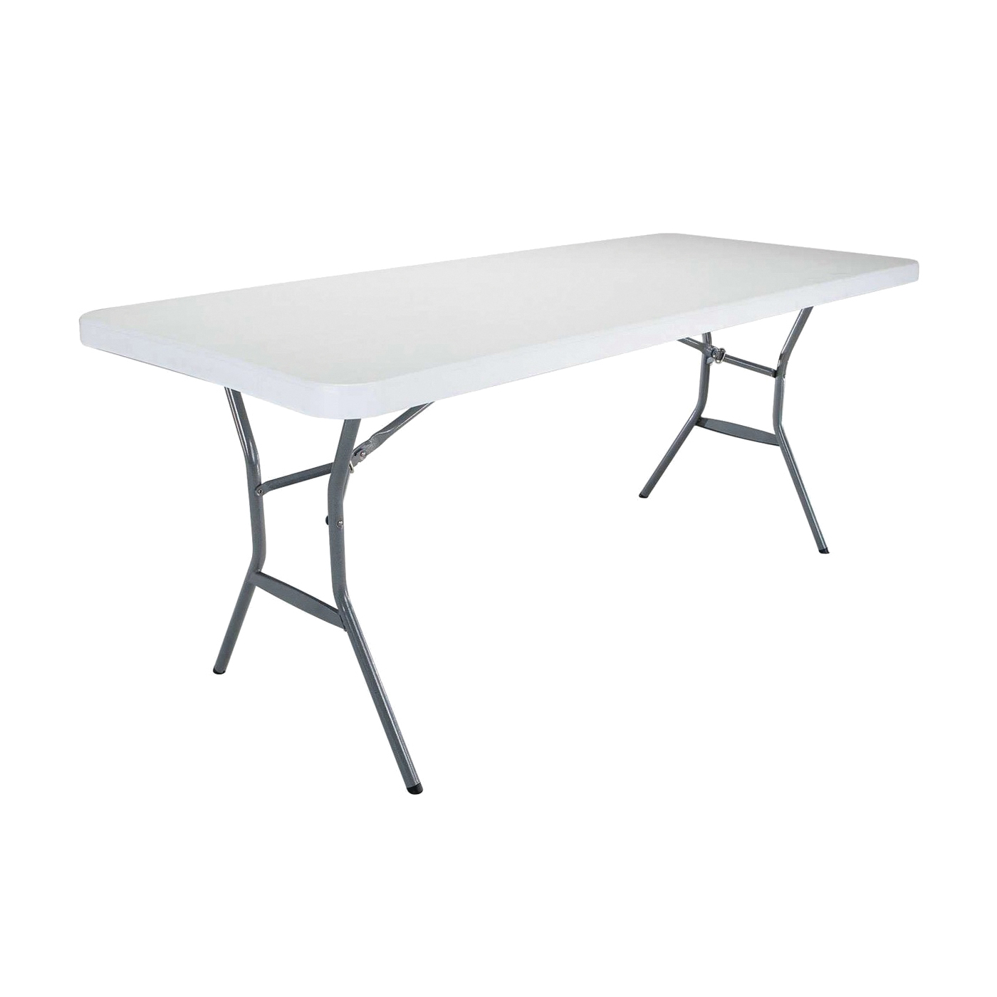 Picture of Lifetime Products 2924 Folding Table, Steel Frame, Polyethylene Tabletop, Gray/White
