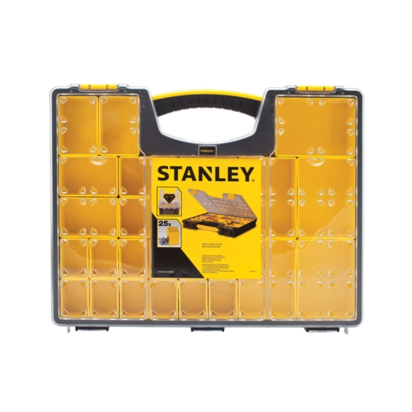 Picture of STANLEY 014725R Tool Organizer, 25 -Compartment, Black/Clear Yellow