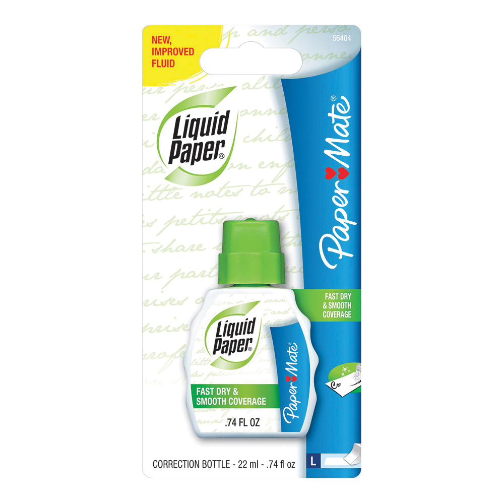 Picture of Paper Mate Liquid Paper 56404 Correction Fluid, 0.74 oz Package