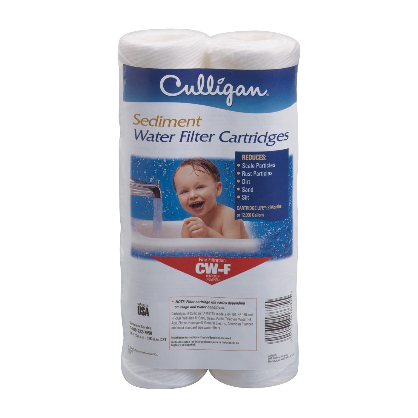 Picture of Culligan CW-F Water Filter Cartridge, 10 um Filter, Polypropylene Wound Filter Media