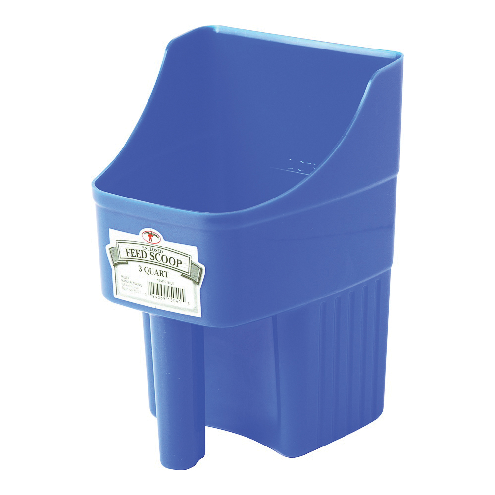 Picture of Little Giant 150415 Feed Scoop, 3 qt Capacity, Polypropylene, Blue, 6-1/4 in L