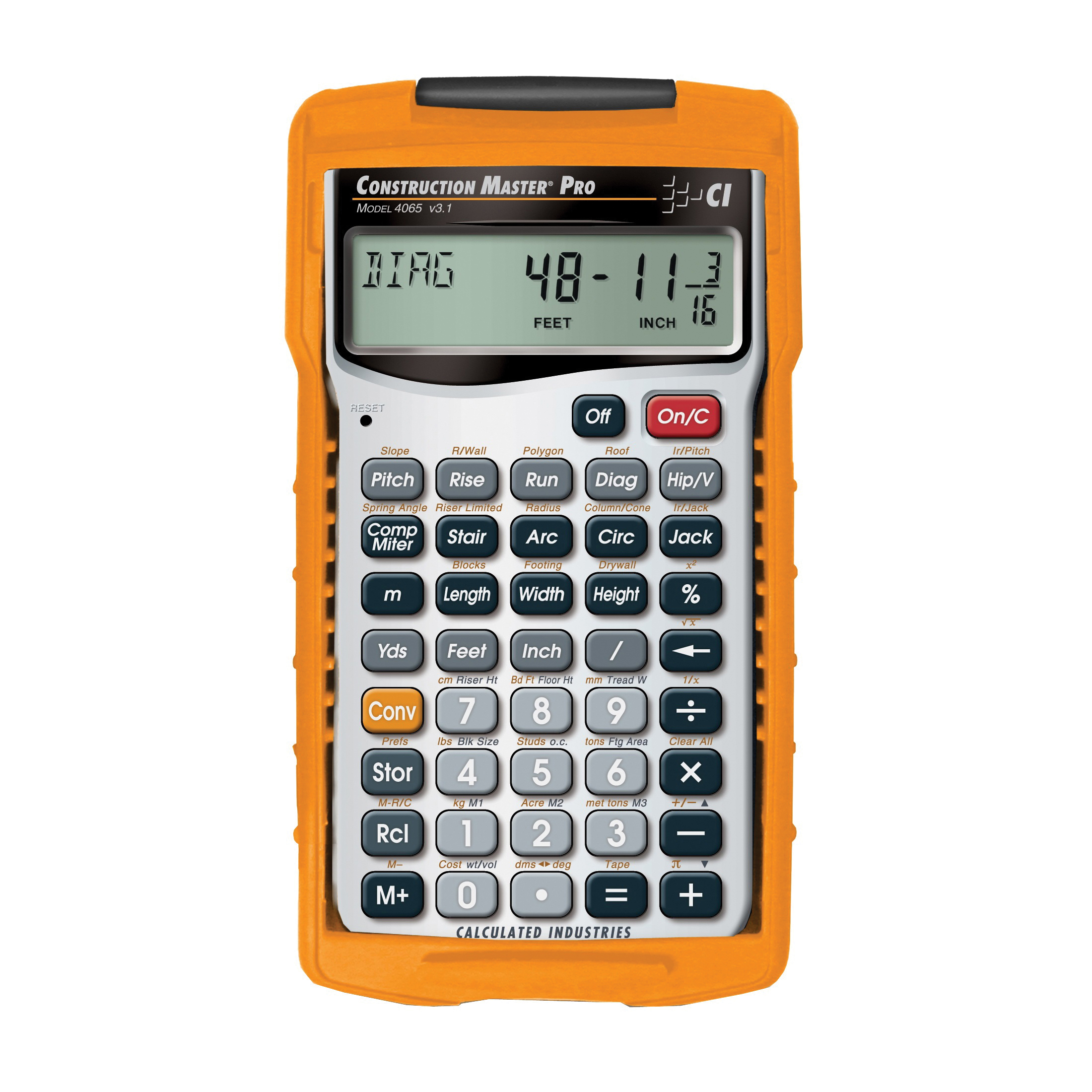 Picture of Calculated Industries Construction Master Pro 4065 Advanced Construction-Math Calculator, 11 Display