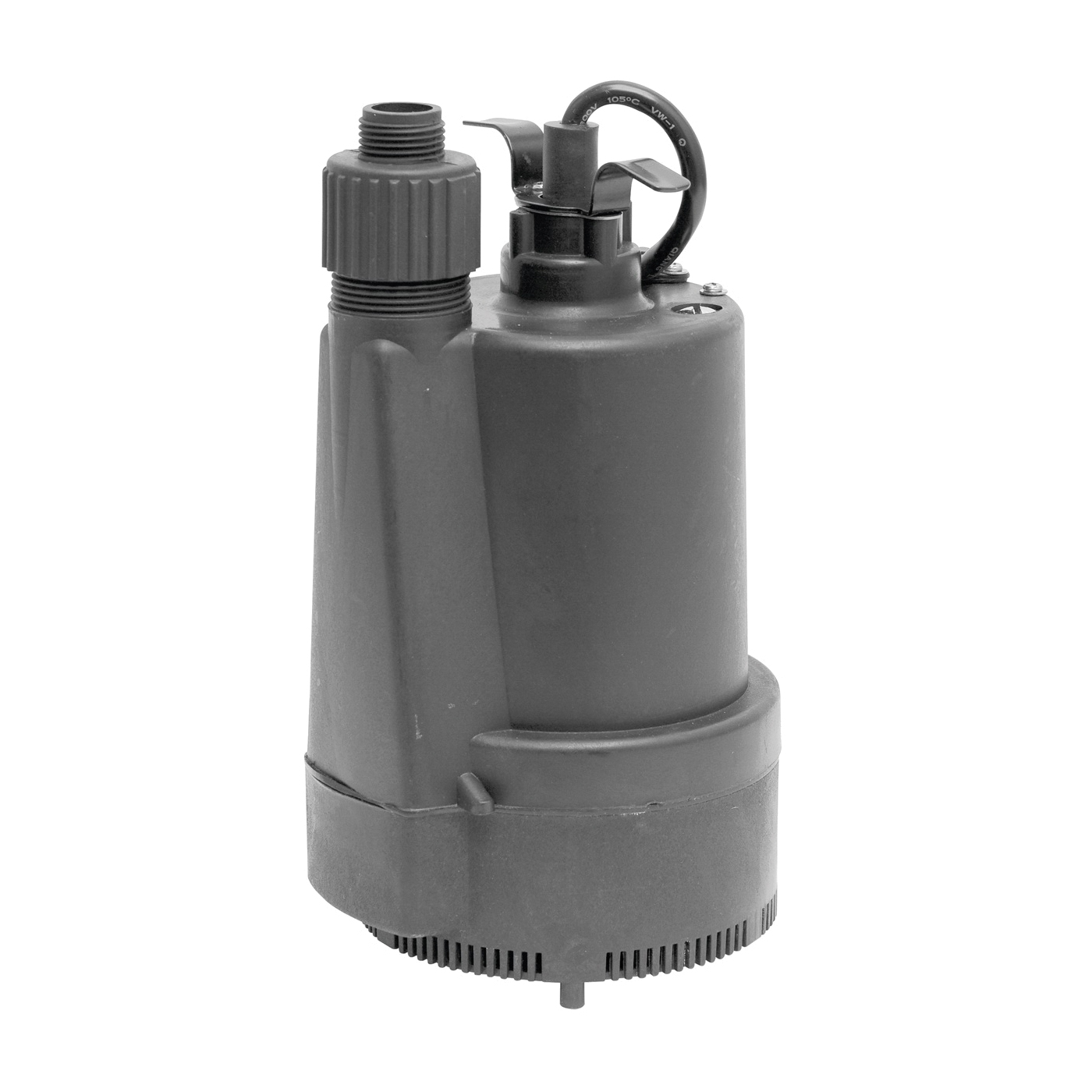 Picture of SUPERIOR PUMP 91330 Utility Pump, 4.1 A, 120 V, 0.33 hp, 1-1/4 in Outlet, 40 gpm, Thermoplastic Impeller