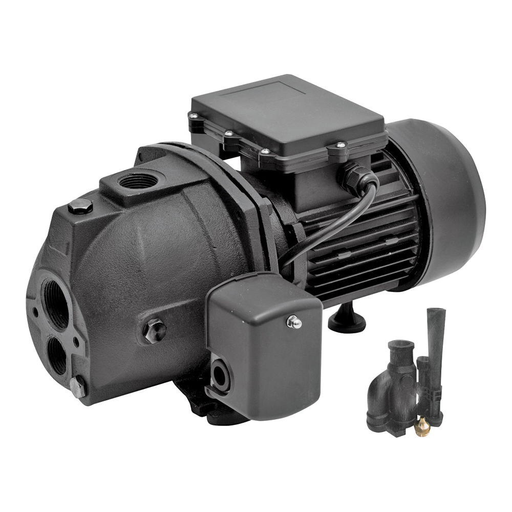 Picture of SUPERIOR PUMP 94115 Jet Pump, 10/5 A, 115/230 V, 1 hp, 1-1/4 in Suction, 1 in Discharge Connection, 25 ft Max Head