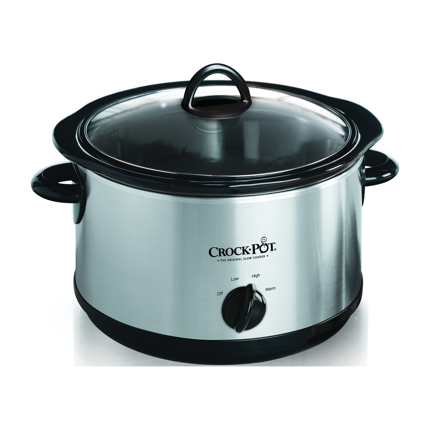 Picture of Crock-Pot SCR450-S Slow Cooker, 4.5 qt Capacity, Manual Control, Ceramic/Stainless Steel, Silver