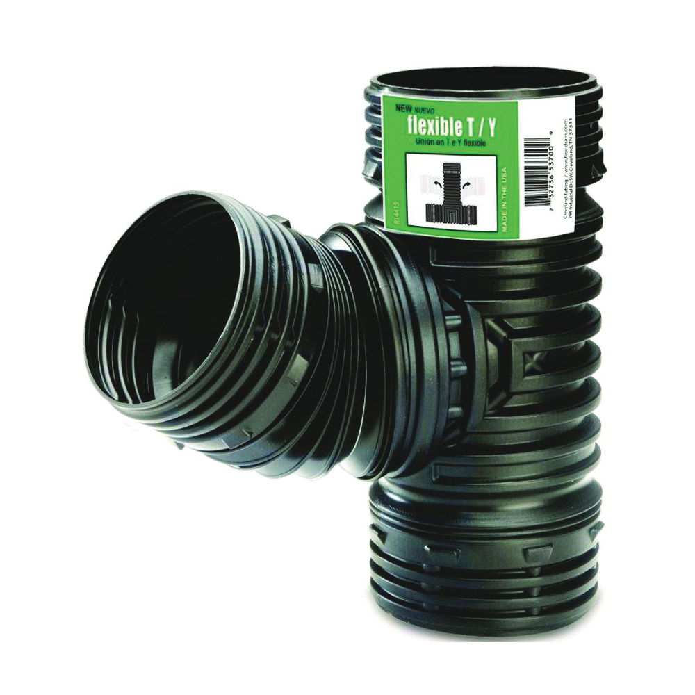 Picture of Amerimax ADP53702 Fitting Drain, 4 in, 4 in, Black