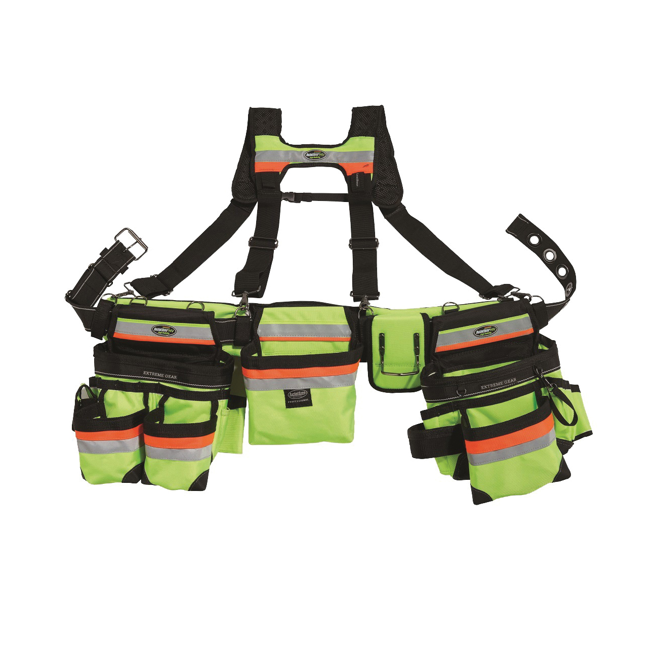 Picture of Bucket Boss 55185-HVOY Framer's Rig, 52 in Waist, Poly Fabric, Black/Yellow, 29 -Pocket