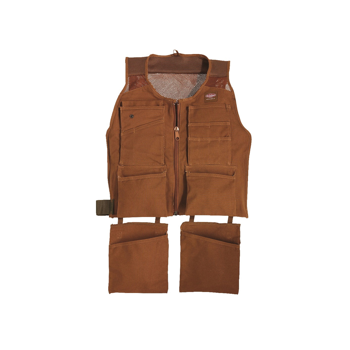 Picture of Bucket Boss 80400 SuperVest, S/M Waist, Canvas, Brown, 14 -Pocket