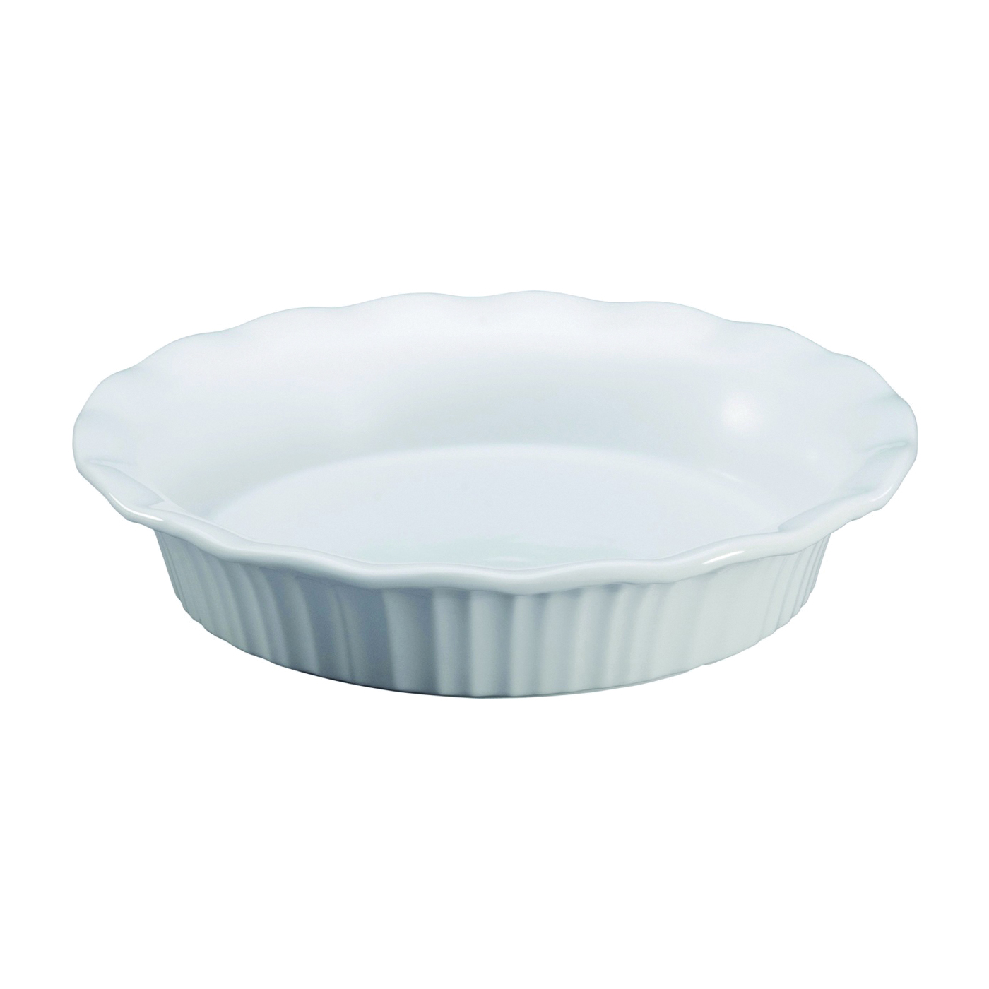 Picture of Corningware 1117314 Pie Plate, Ceramic, French White, Dishwasher Safe: Yes
