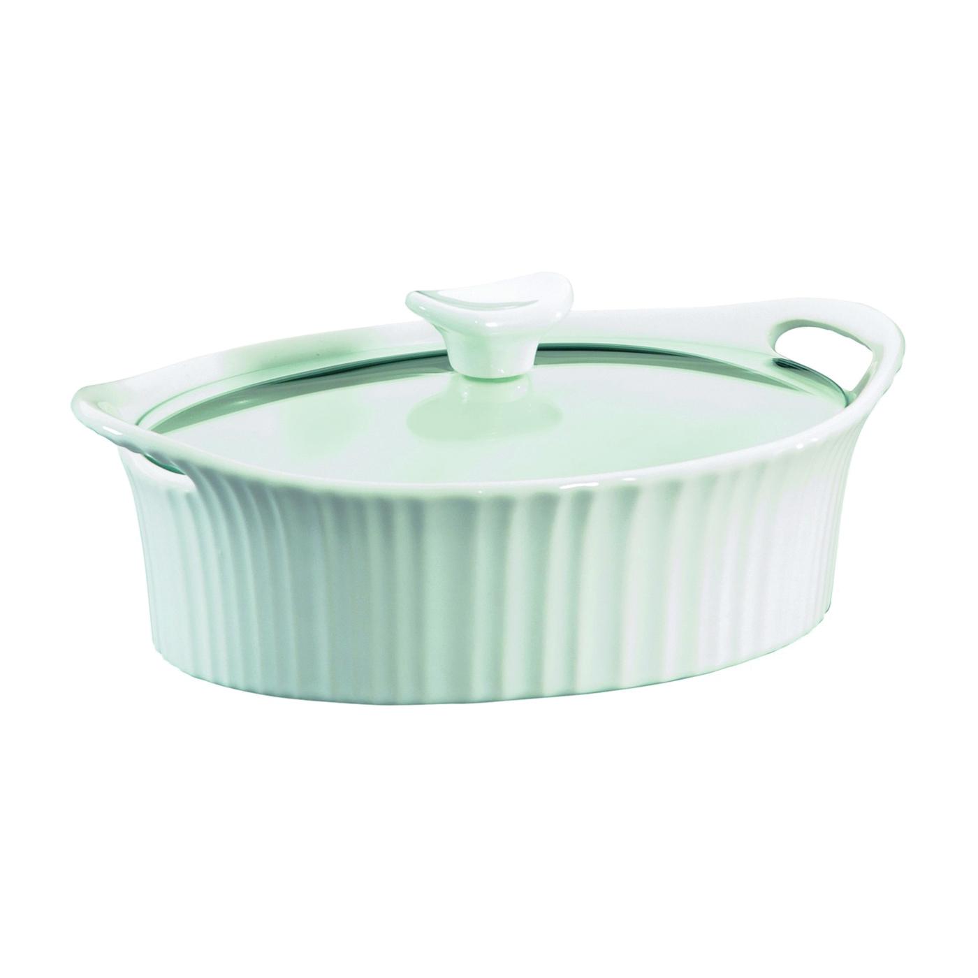 Picture of Corningware 1105929 Casserole Dish, 1.5 qt Capacity, Stoneware, French White, Dishwasher Safe: Yes
