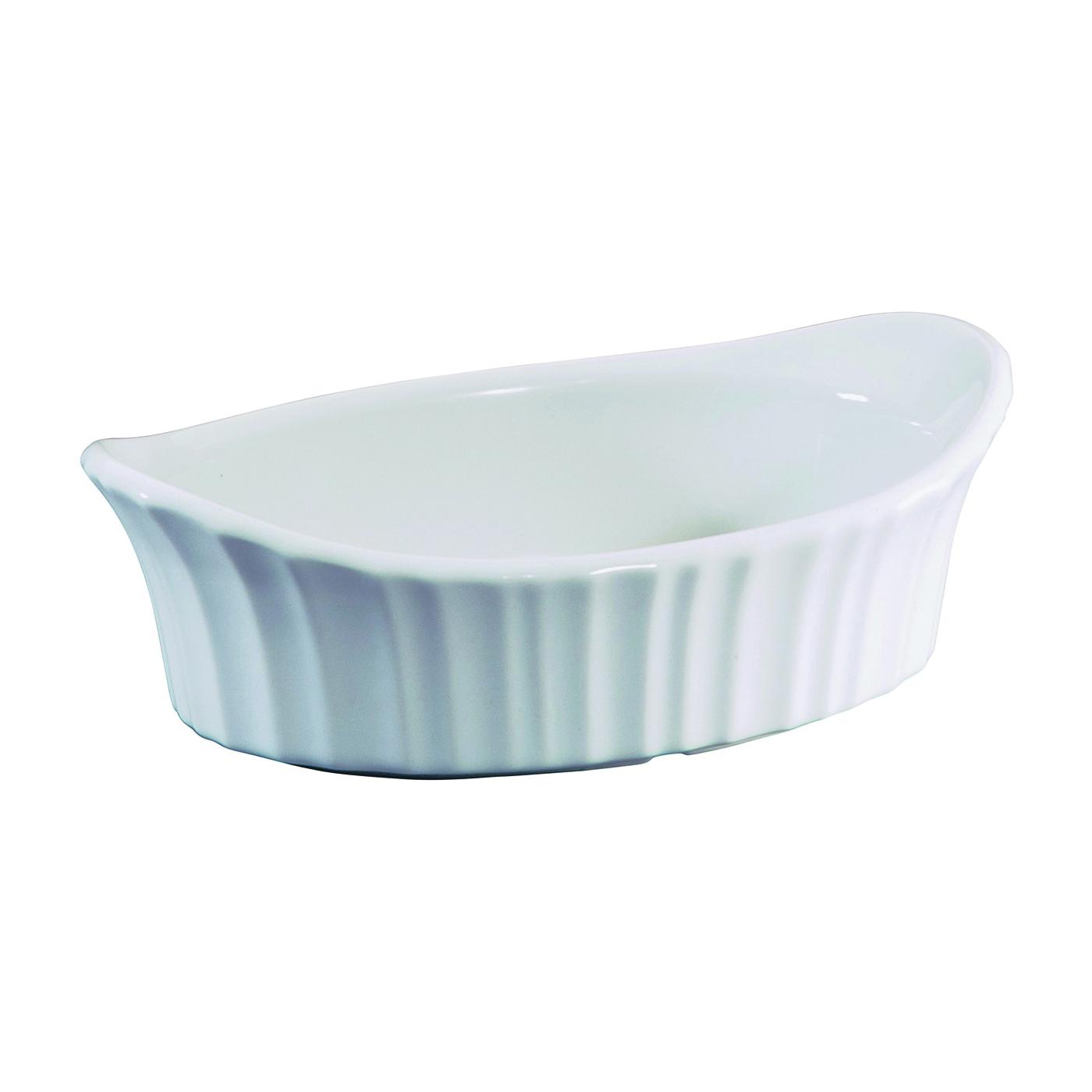 Picture of Corningware 1106004 Appetizer Dish, 18 oz Capacity, Stoneware, French White, Dishwasher Safe: Yes