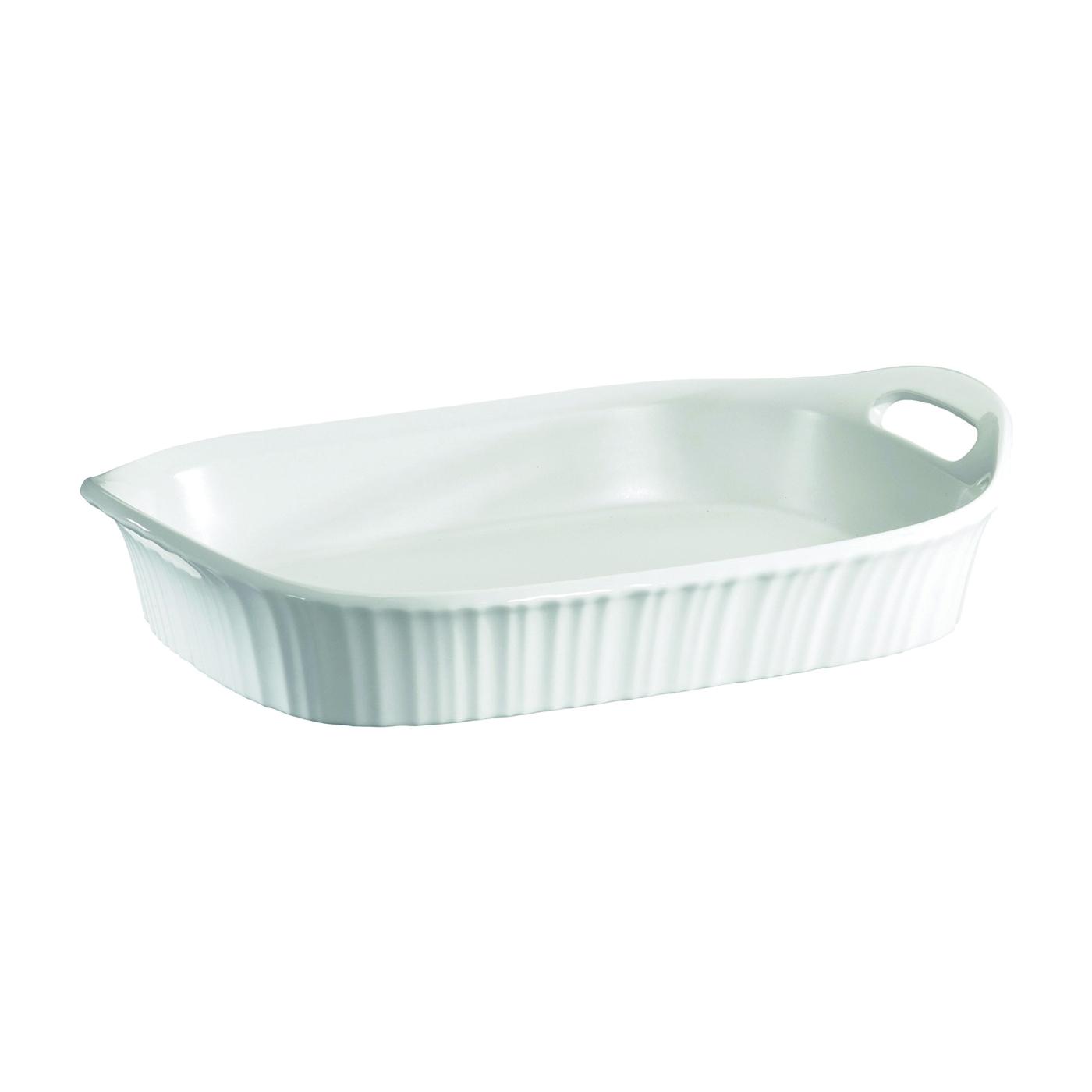Picture of Corningware 1105936 Casserole Dish, 3 qt Capacity, Ceramic, French White, Dishwasher Safe: Yes