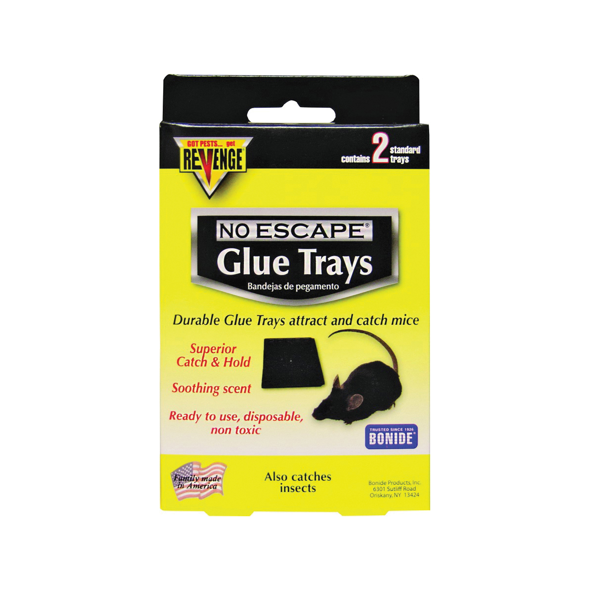 Picture of Bonide 47020 Glue Tray, 0.7 in W, 5-1/2 in H, Catch-N-Hold Locking