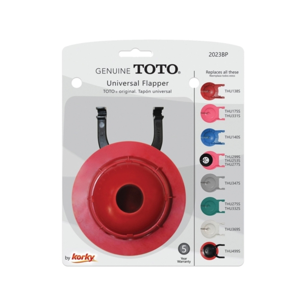 Picture of Korky 2023BP Toilet Flapper, Rubber, Red, For: 3 in TOTO Models, 3 in Flush Valves Opening
