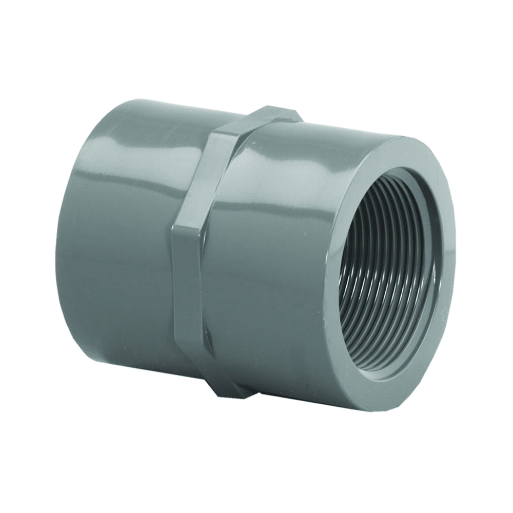 Picture of GENOVA 300 Series 301288 Pipe Coupler, 1 in, FIP, Gray, SCH 80 Schedule, 630 psi Pressure