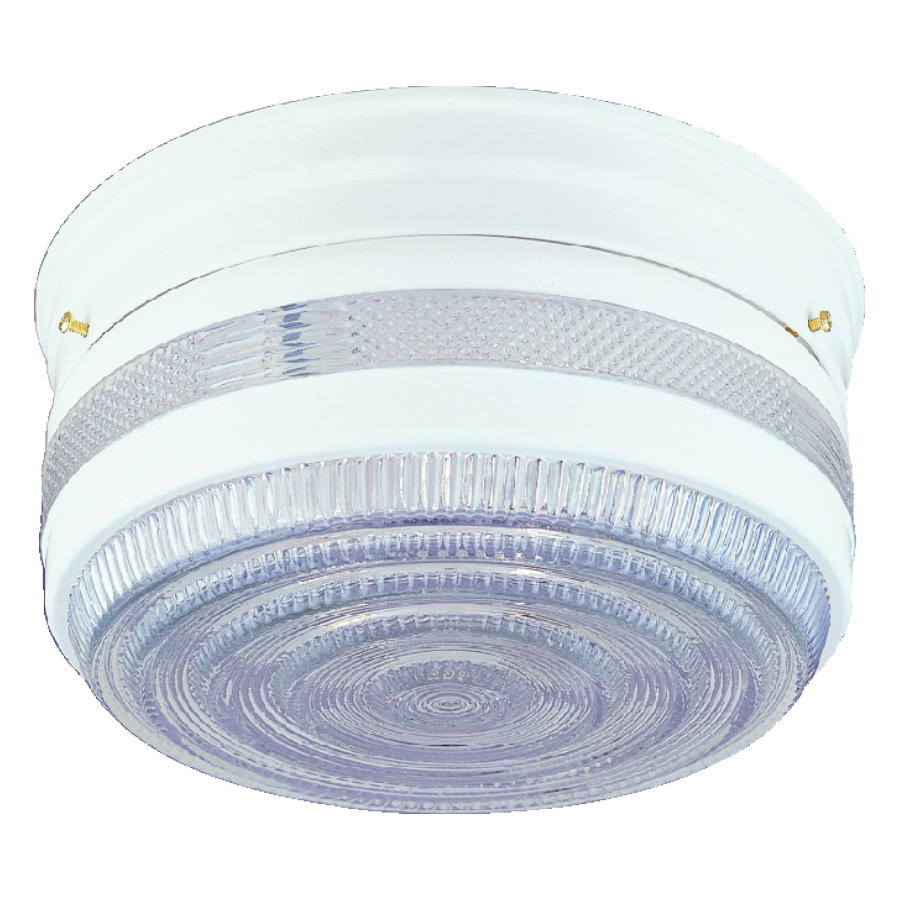Picture of Boston Harbor F15WH02-10043L Ceiling Light Fixture, 2-Lamp, CFL Lamp, White Fixture