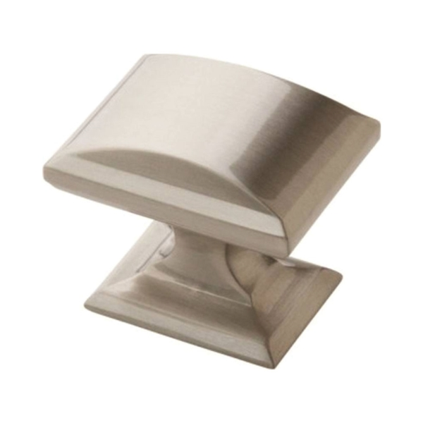 Picture of Amerock BP29340G10 Cabinet Knob, 1-1/8 in Projection, Zinc, Satin Nickel