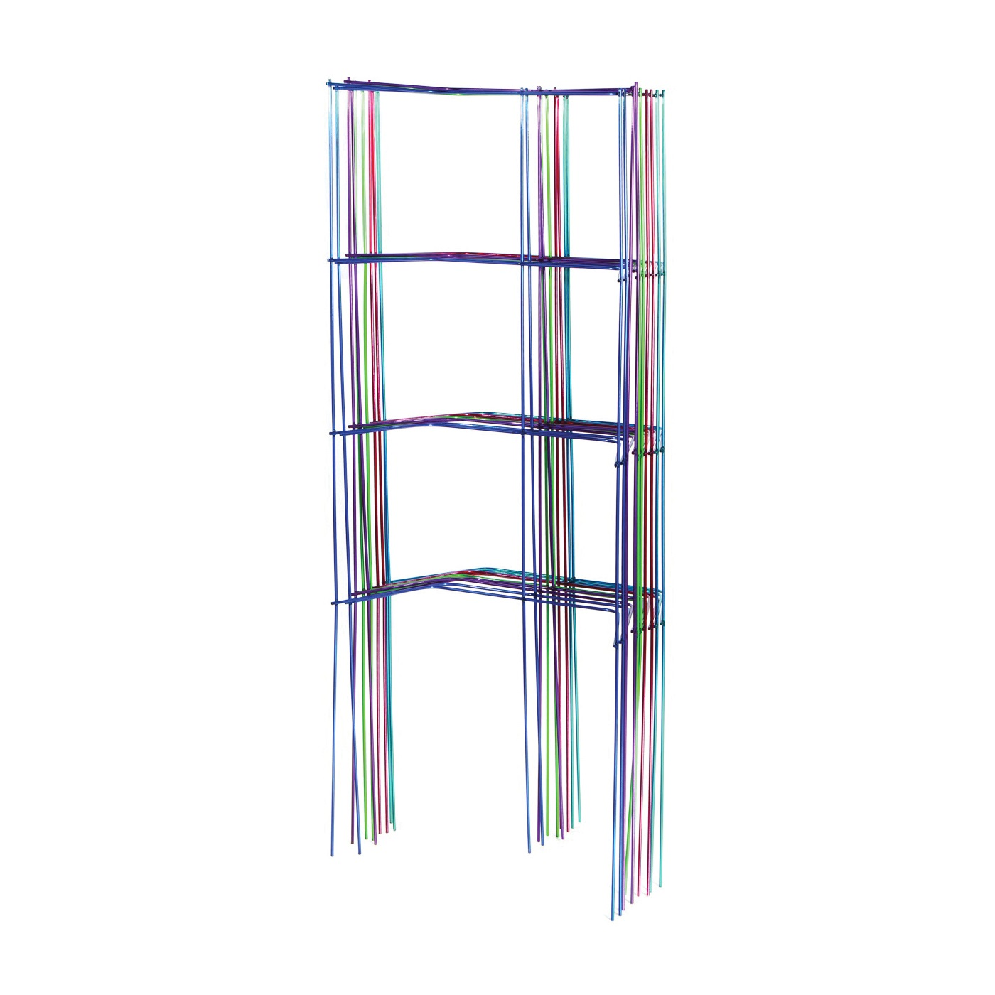 Picture of Glamos Wire 21170 Garden Cage Support, 46 in L, Amethyst Purple/Aquamarine/Emerald Green/Ruby Red/Sapphire Blue