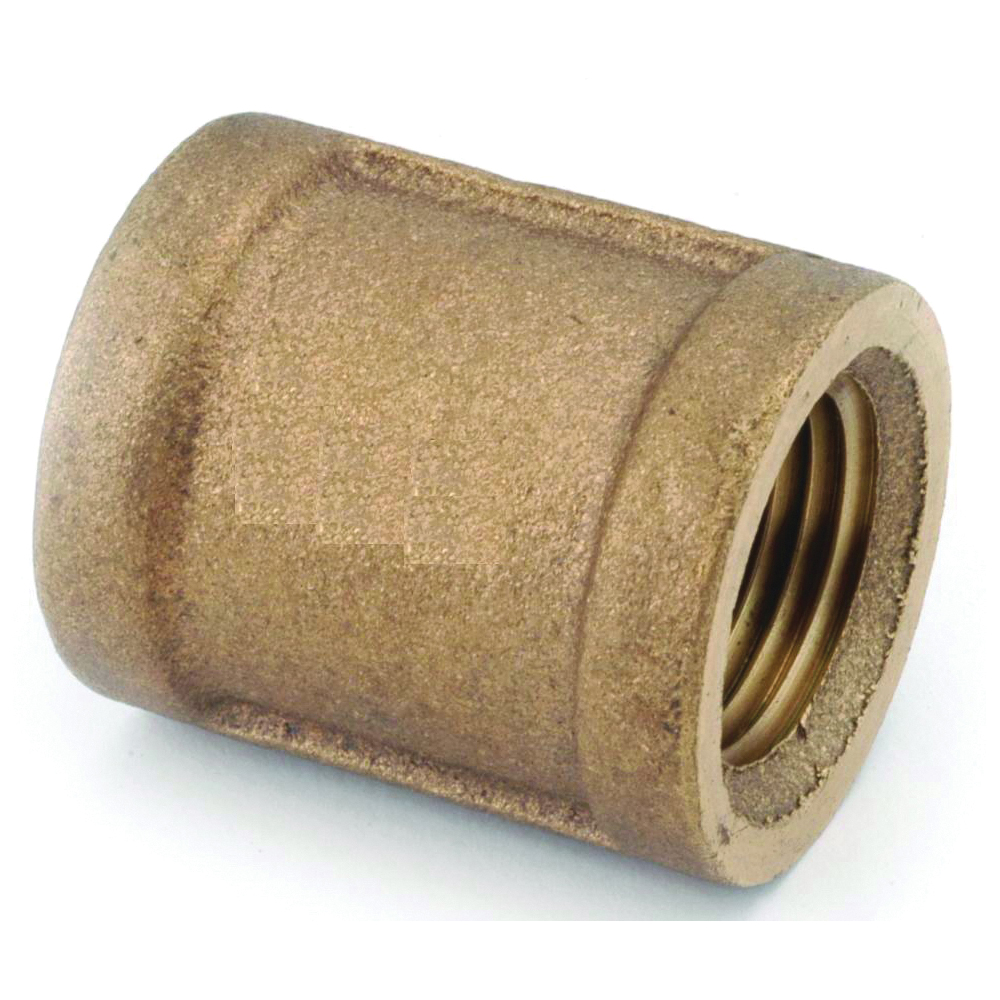 Picture of Anderson Metals 738103-02 Coupling, 1/8 in, FIPT, Brass