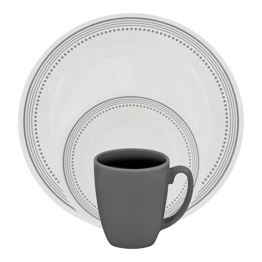 Picture of OLFA 1119398 Dinnerware Set, Vitrelle Glass, For: Dishwashers, Pre-Heated Microwave Ovens and Refrigerators