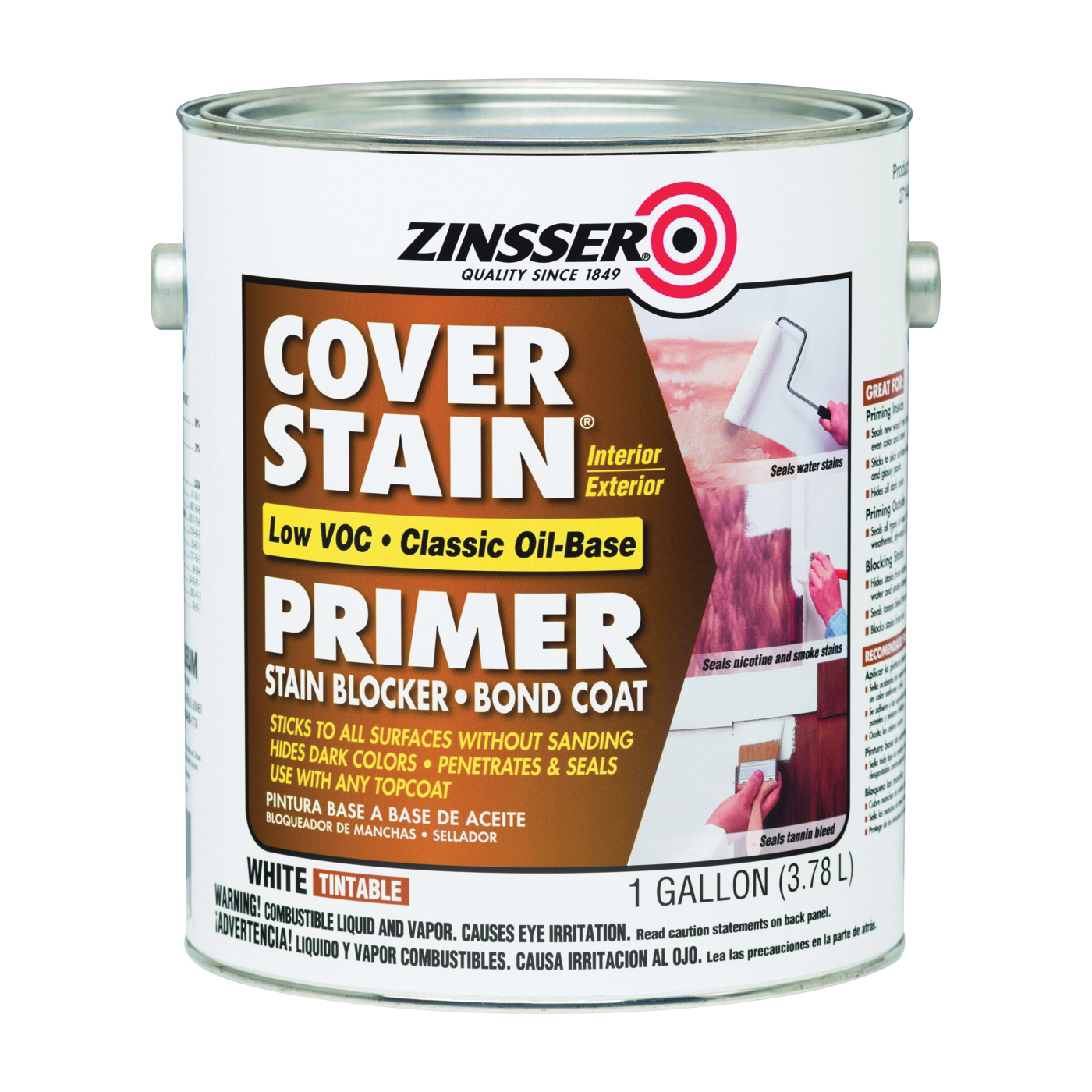 Picture of ZINSSER 271448 Primer, Flat, White, 1 gal