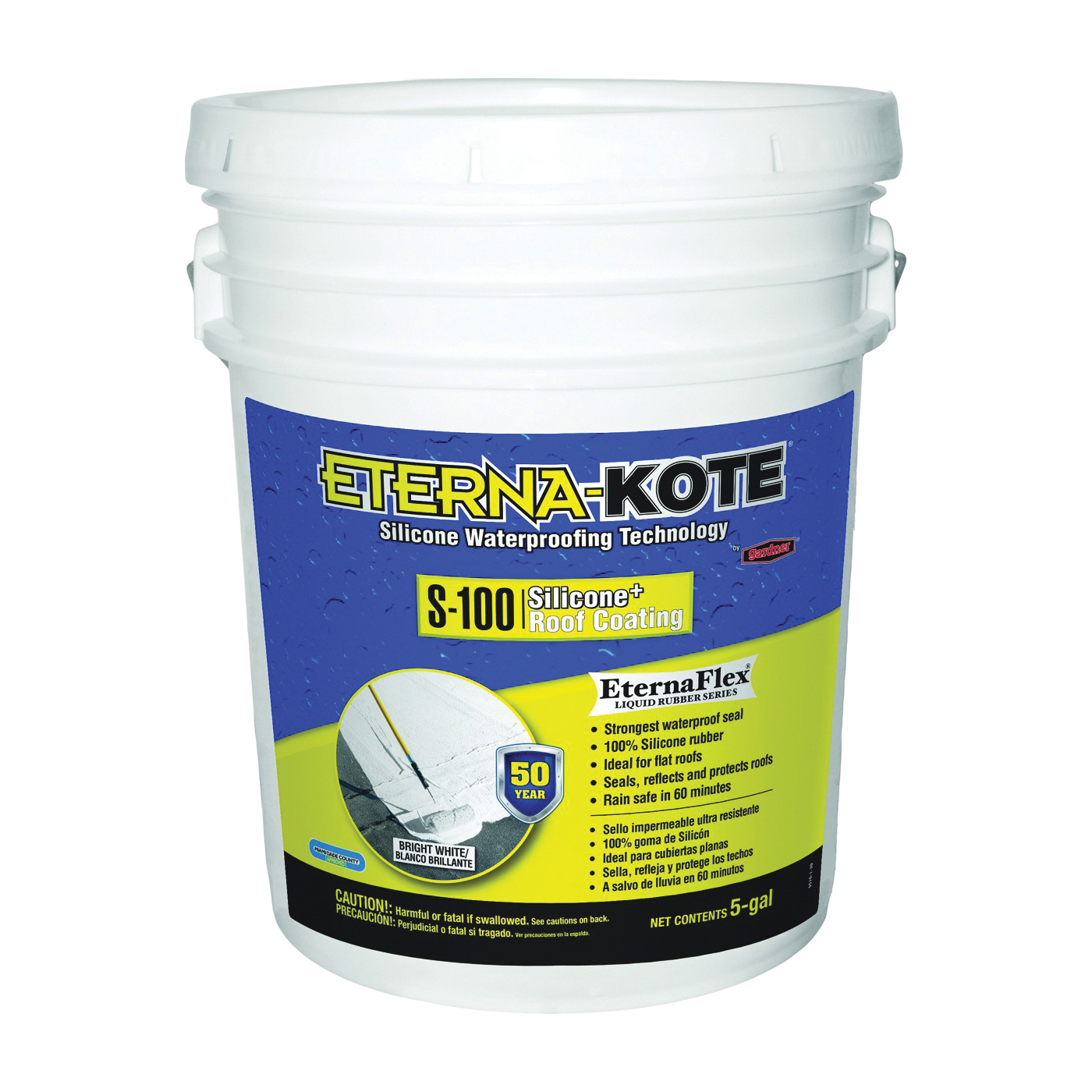 Picture of Gardner 5570-1-30 Roof Coating, White, 5 gal, Pail, Liquid