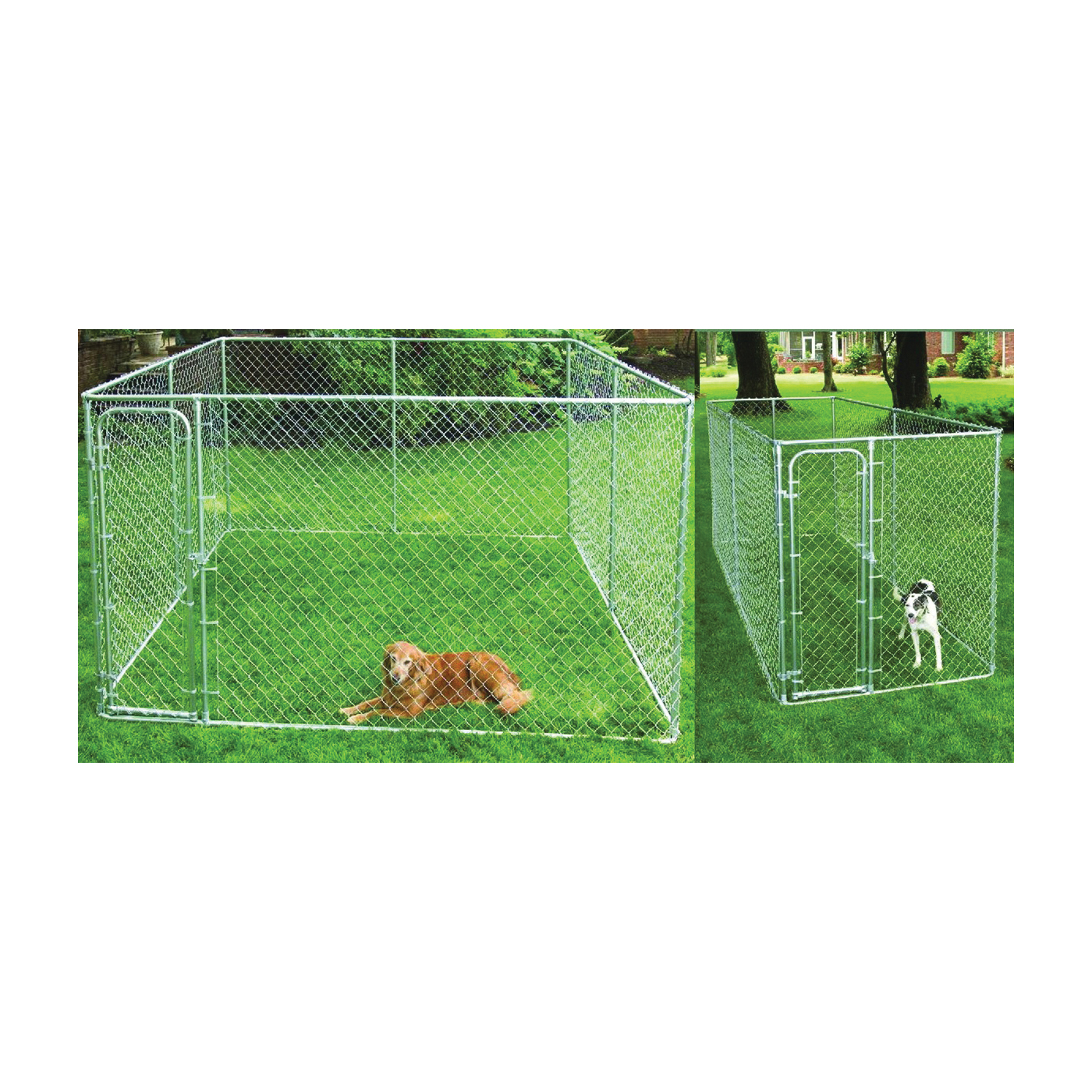 Picture of Stephens Pipe & Steel RSHBK11-10977 Dog Kennel Box, 10 ft OAL, 15 ft OAW, 6 ft OAH, Steel, Galvanized
