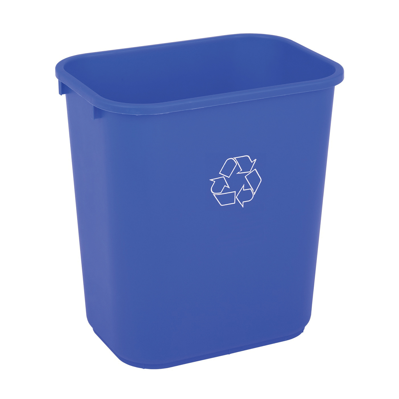 Picture of CONTINENTAL COMMERCIAL 2818-1 Recycling Waste Basket, 28.125 qt Capacity, Plastic, Blue