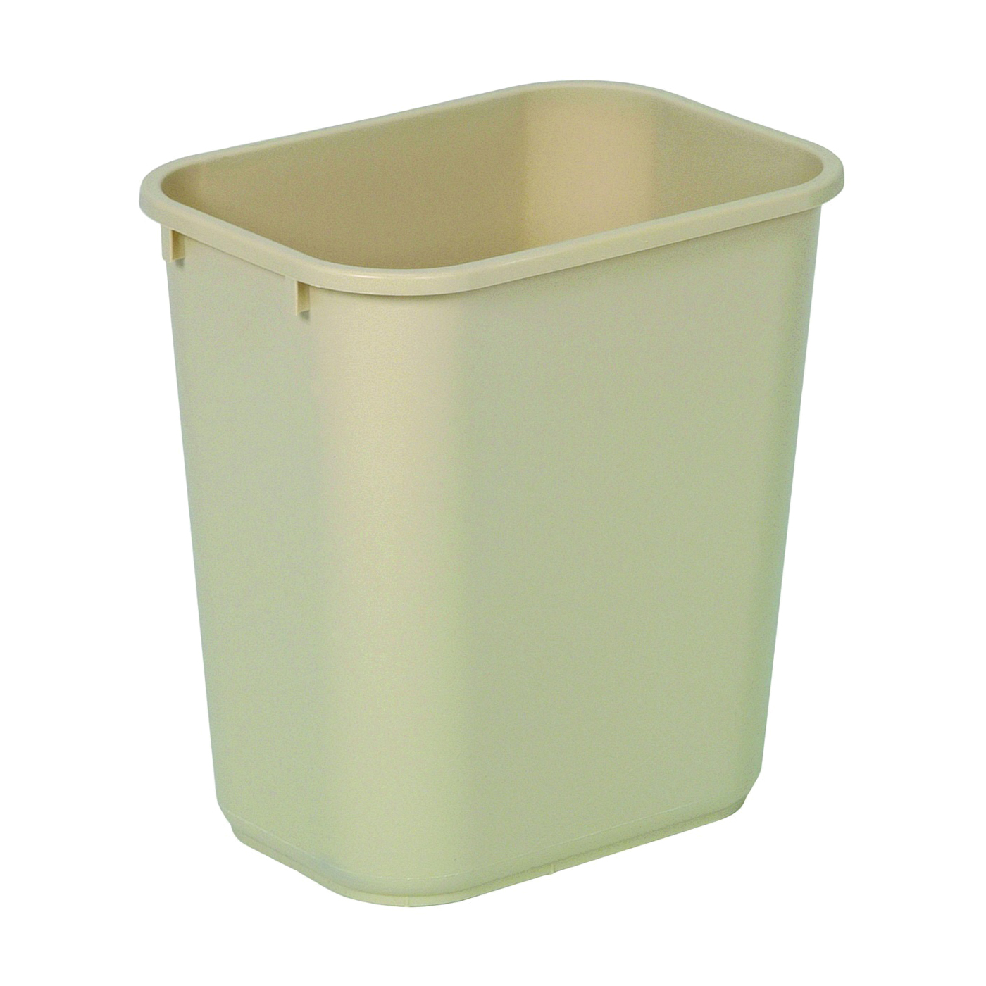 Picture of CONTINENTAL COMMERCIAL 2818BE Waste Basket, 28.125 qt Capacity, Rectangular, Plastic, Beige, 10-1/2 in W, 15 in H