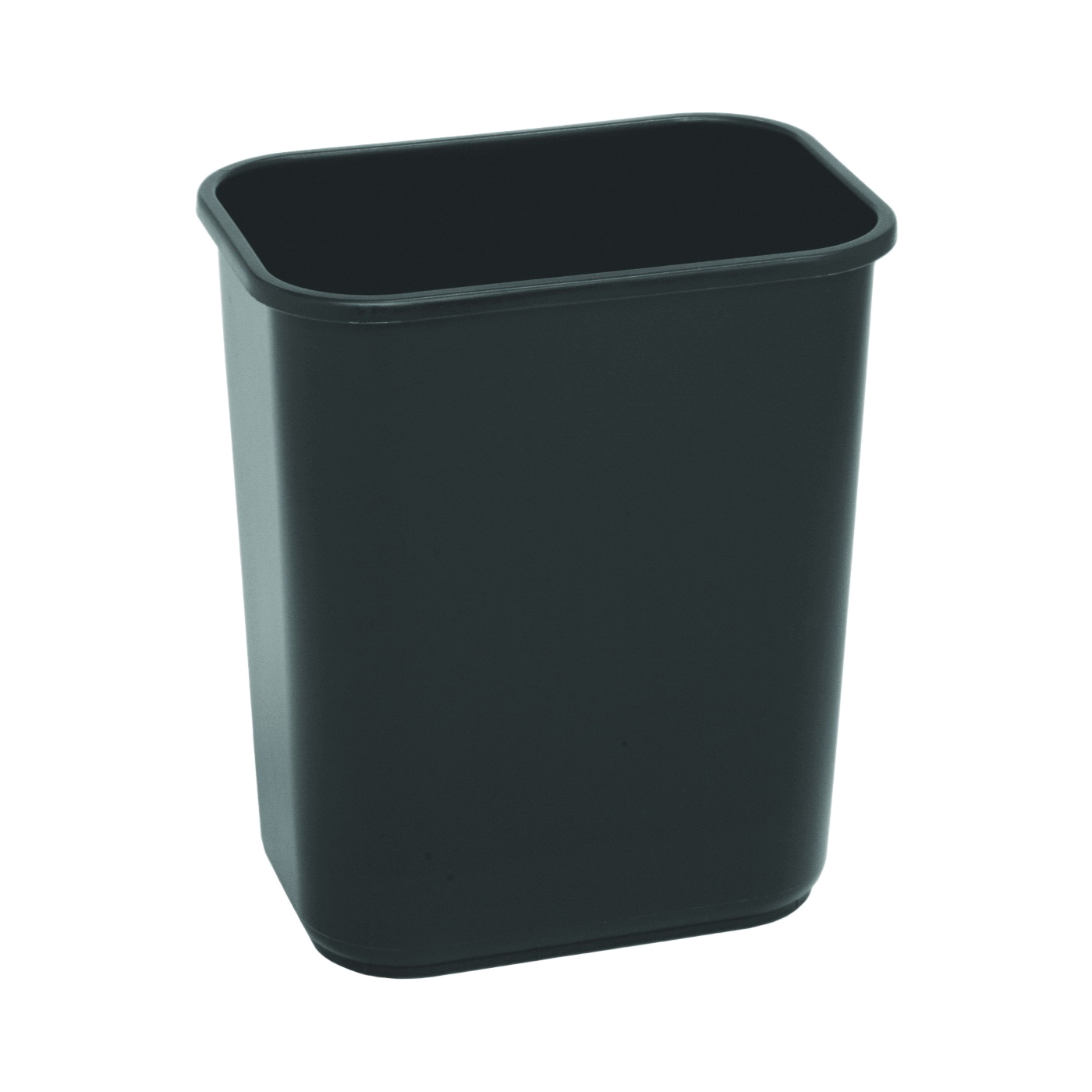Picture of CONTINENTAL COMMERCIAL 2818BK Waste Basket, 28.125 qt Capacity, Rectangular, Plastic, Black, 10-1/2 in W, 15 in H