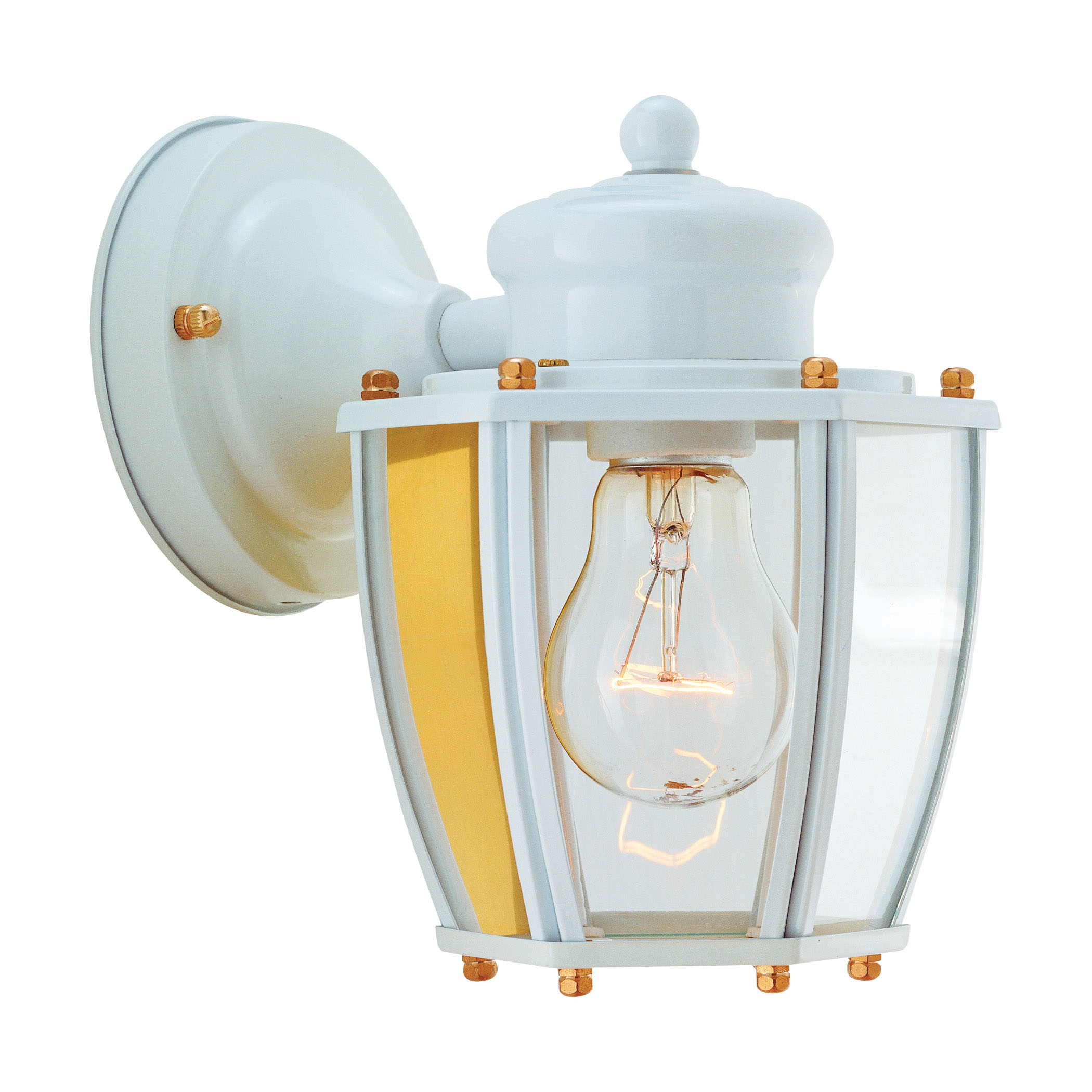 Picture of Boston Harbor HV-66961-WH Porch Light Fixture, CFL Lamp, Steel Fixture, White